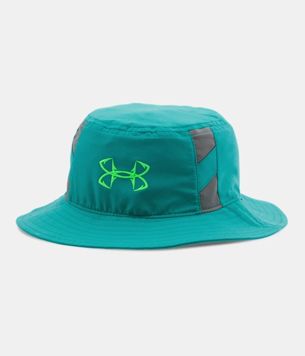 Boys 39 ua fish hook bucket hat under armour us for Under armor fishing hat