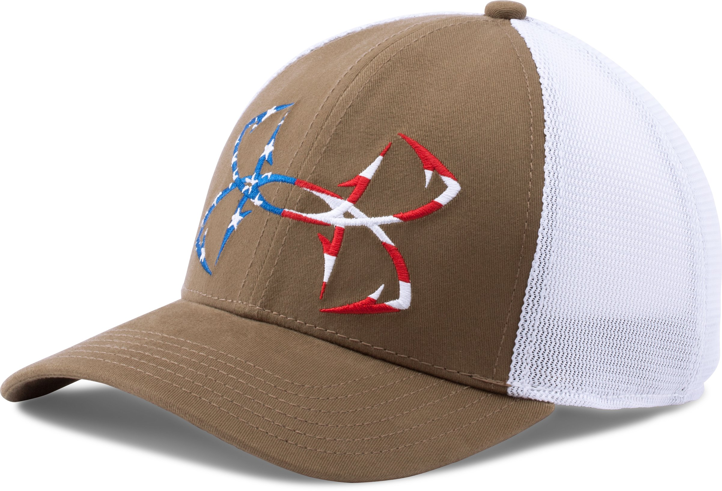 Men's UA Fish Hook Big Logo Mesh Cap, Saddle