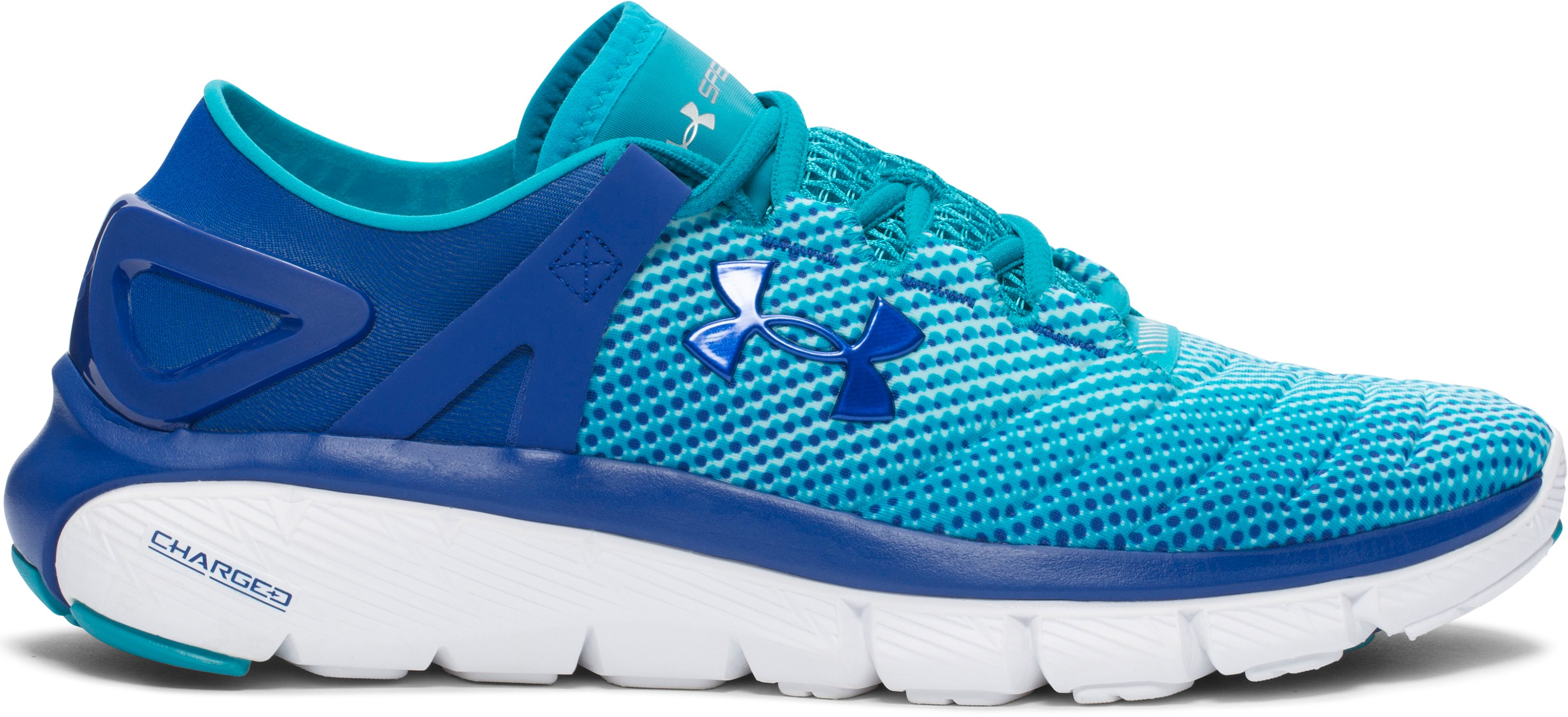 Women's UA Speedform® Fortis – Pixel Running Shoes, COBALT, zoomed image