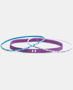 Women's UA Mini Wordmark Headbands - 4 Pack  1 Color $10.99