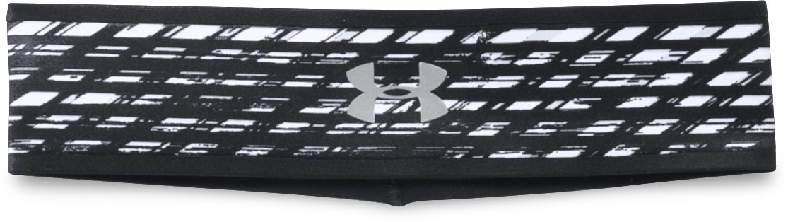 Women's UA Fly Fast Reversible Headband, Black , undefined