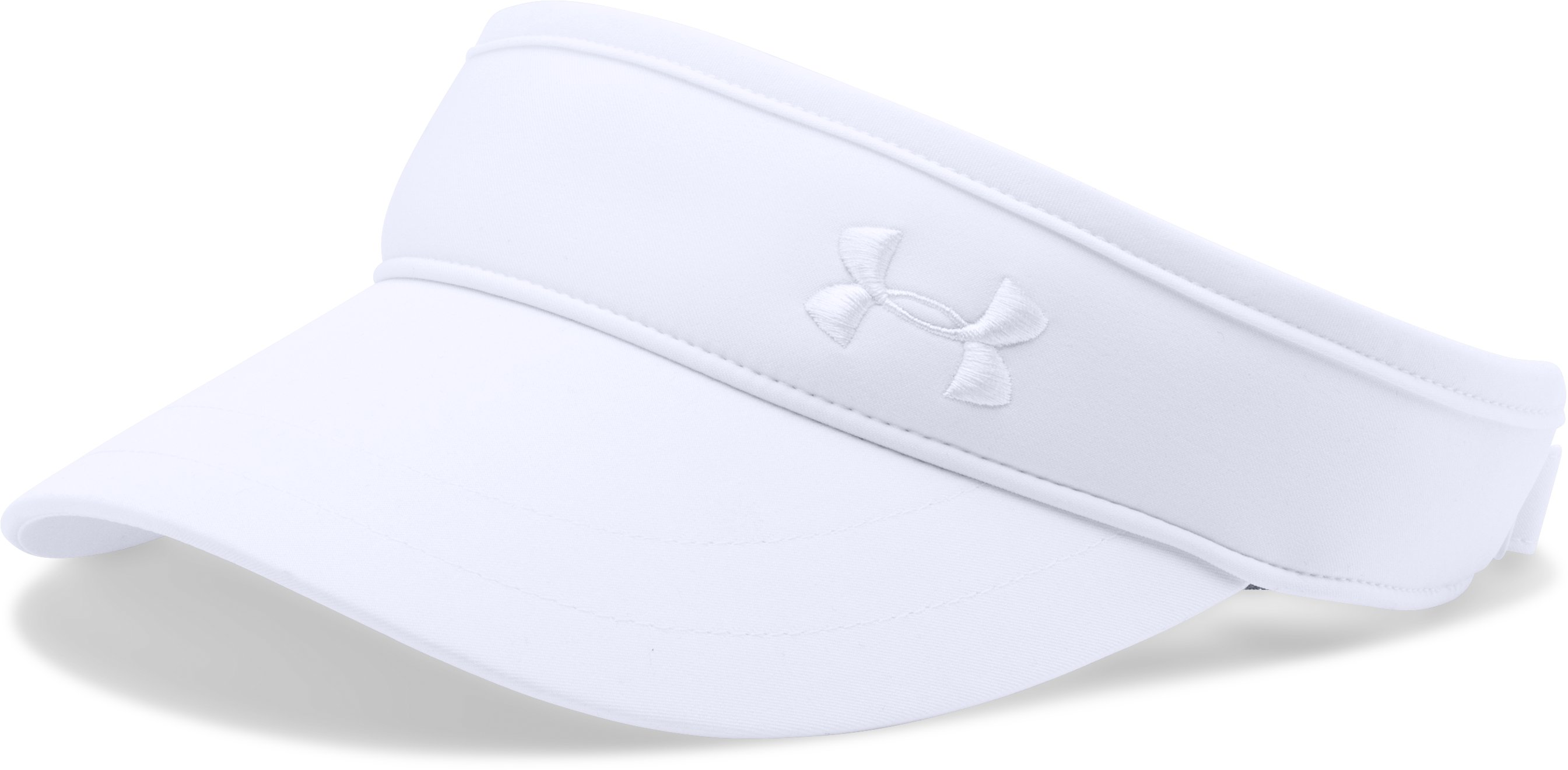 Women's UA Golf Visor, White, zoomed image