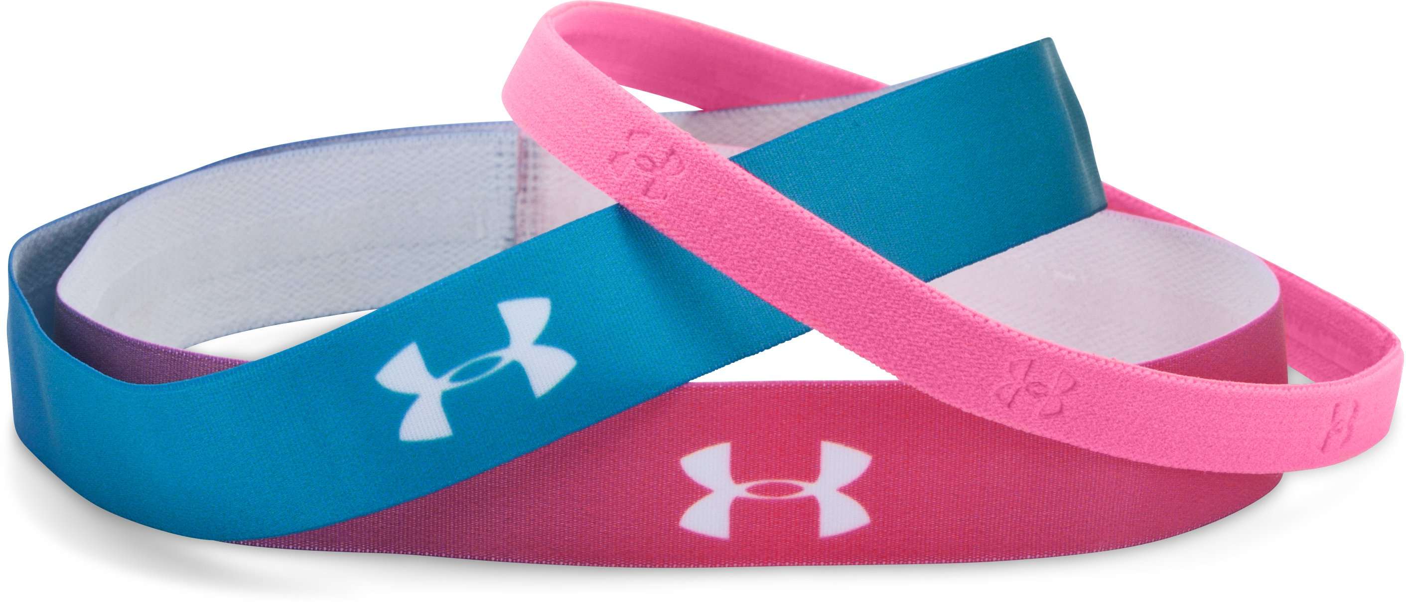 Girls' UA Ombre Headband – 3-Pack, PINK PUNK, undefined