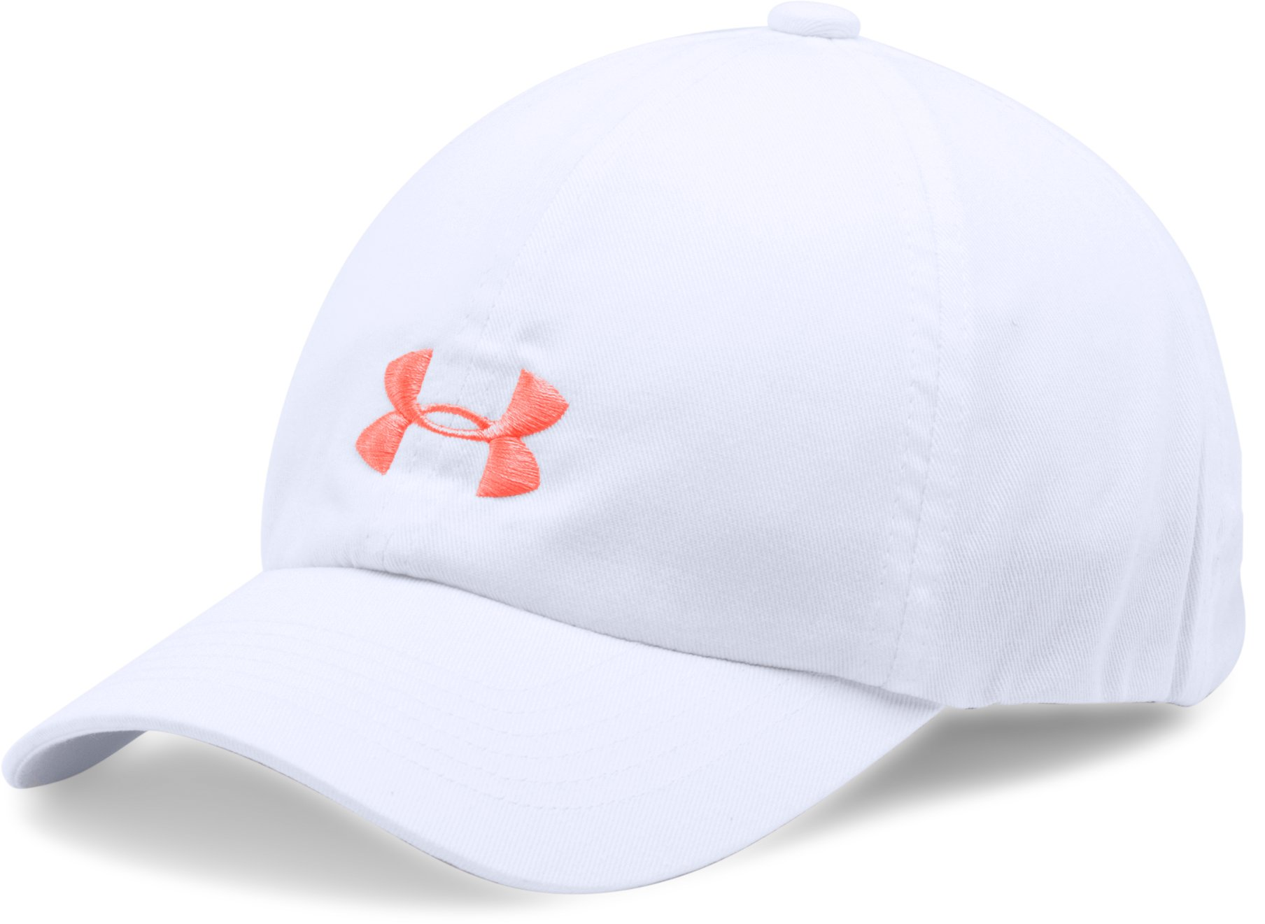 Girls' UA Armour Cap, White, undefined