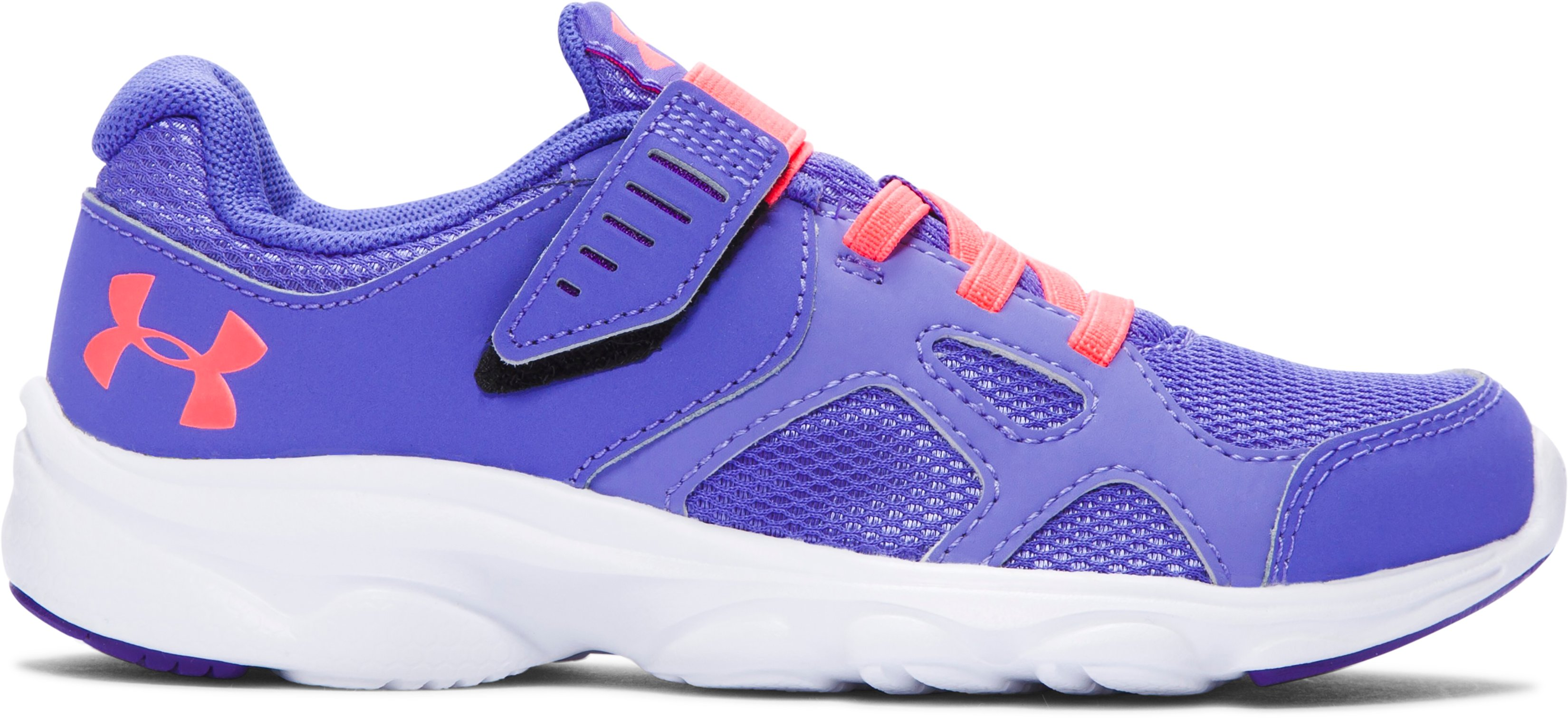 Girls' Pre-School UA Pace AC Running Shoes , VIOLET STORM, zoomed image