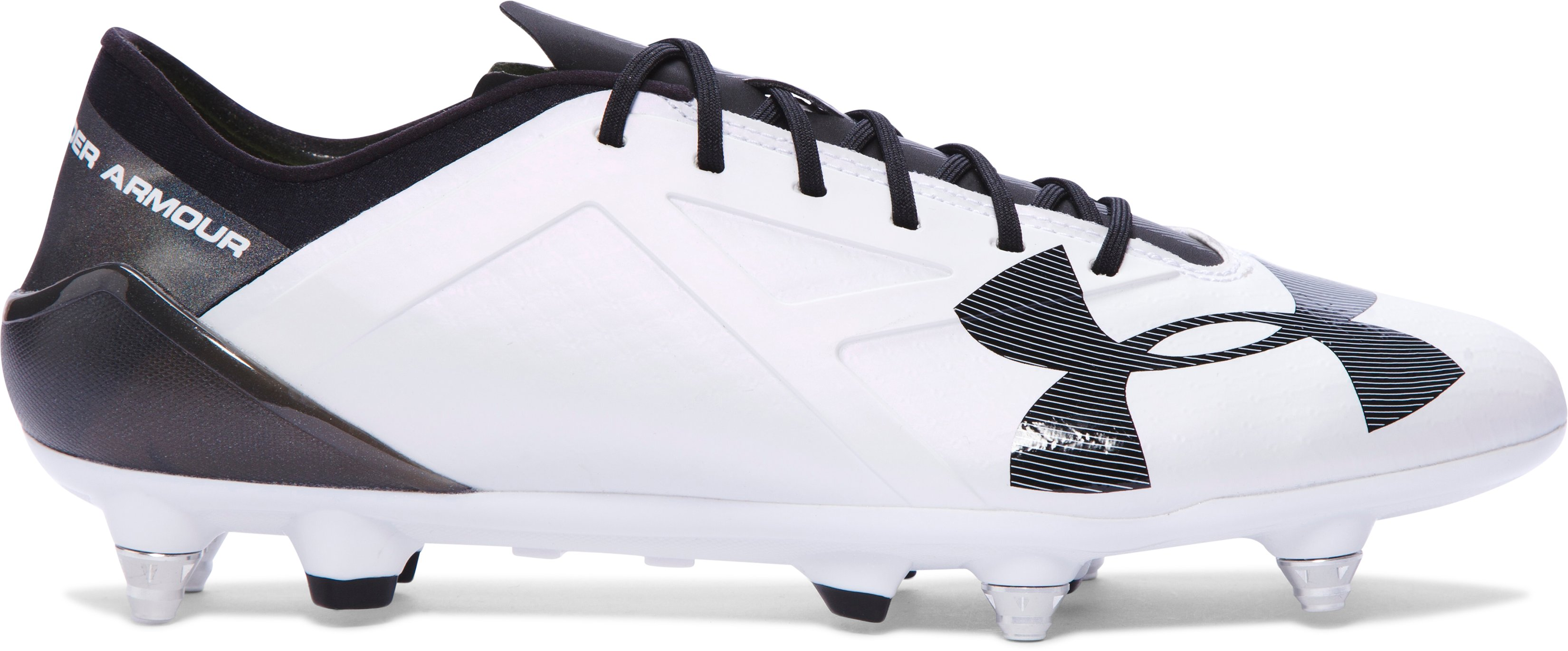 Men's UA Spotlight Hybrid Soccer Cleats, White, undefined