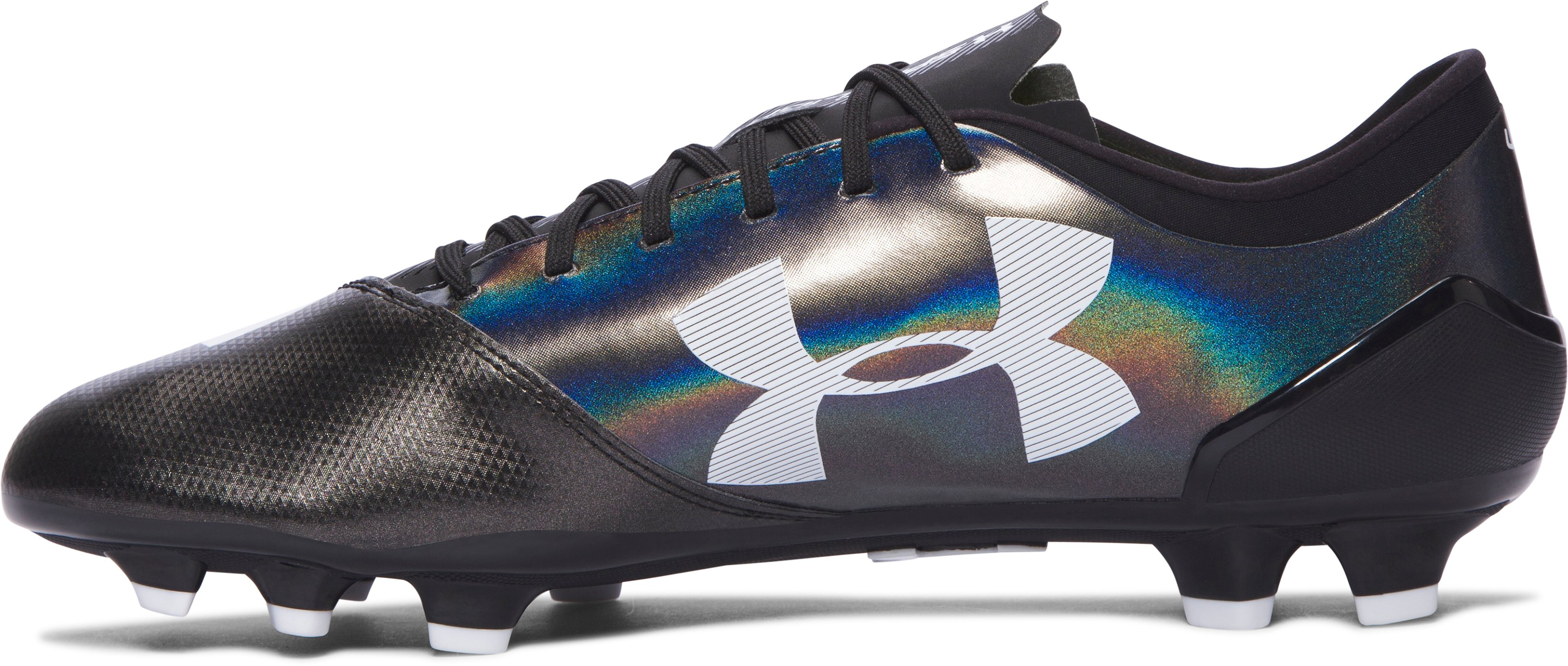 Men's UA Spotlight BL FG Soccer Cleats, Black , undefined