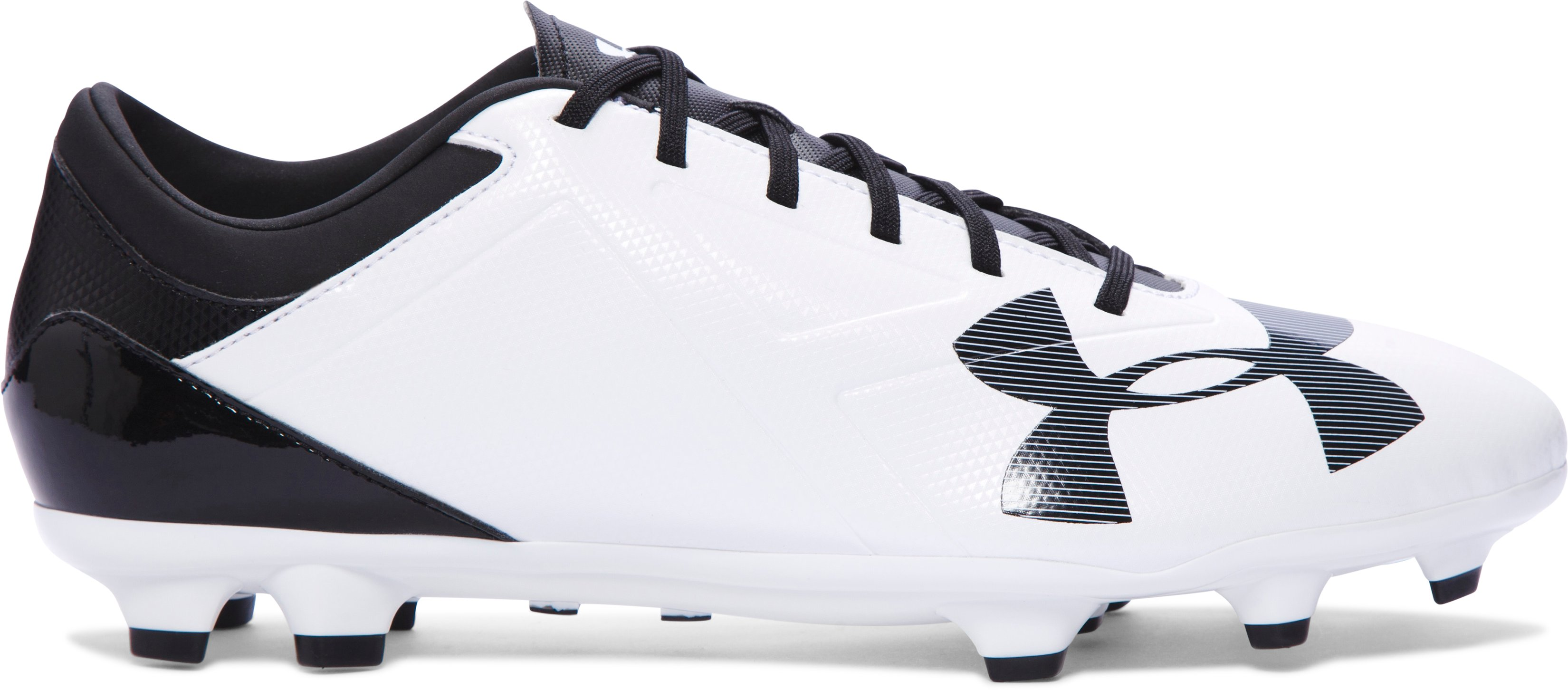 Men's UA Spotlight DL FG Soccer Cleats, White