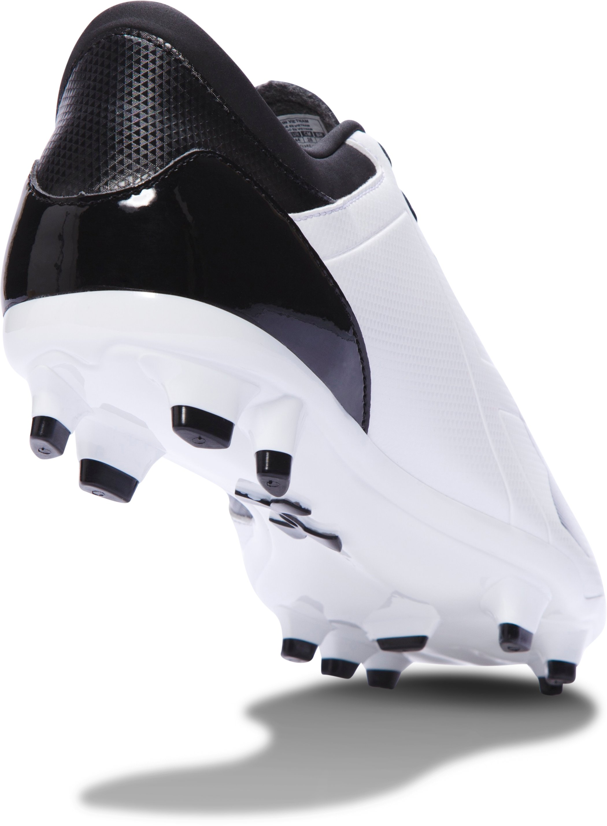 Men's UA Spotlight DL FG Soccer Cleats, White,