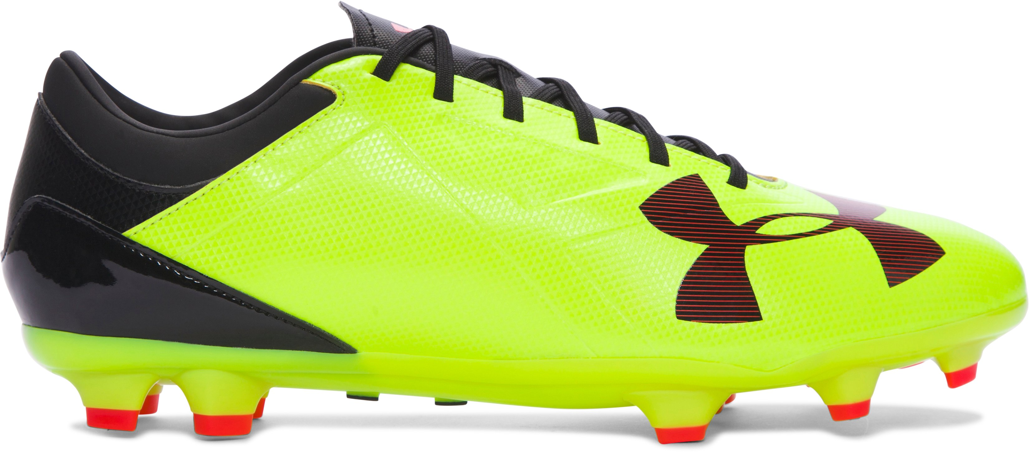 Men's UA Spotlight DL FG Soccer Cleats, High-Vis Yellow