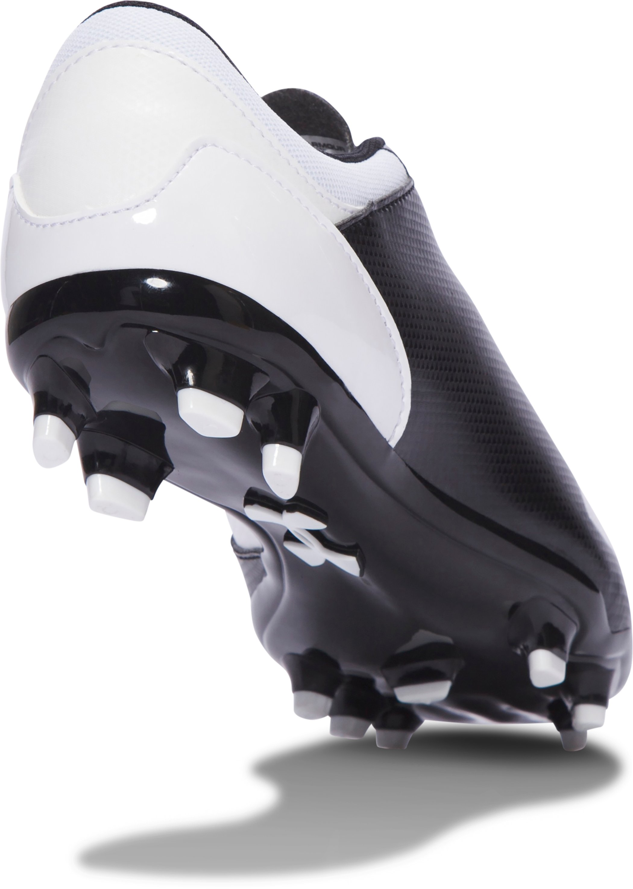 Boys' UA Spotlight DL FG JR. Soccer Cleats, Black ,