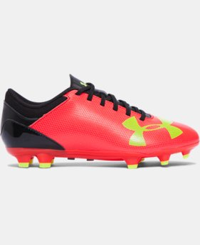 Boys' UA Spotlight DL FG Jr. Soccer Cleats   $44.99