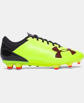 Boys' UA Spotlight DL FG JR. Soccer Cleats   $33.99