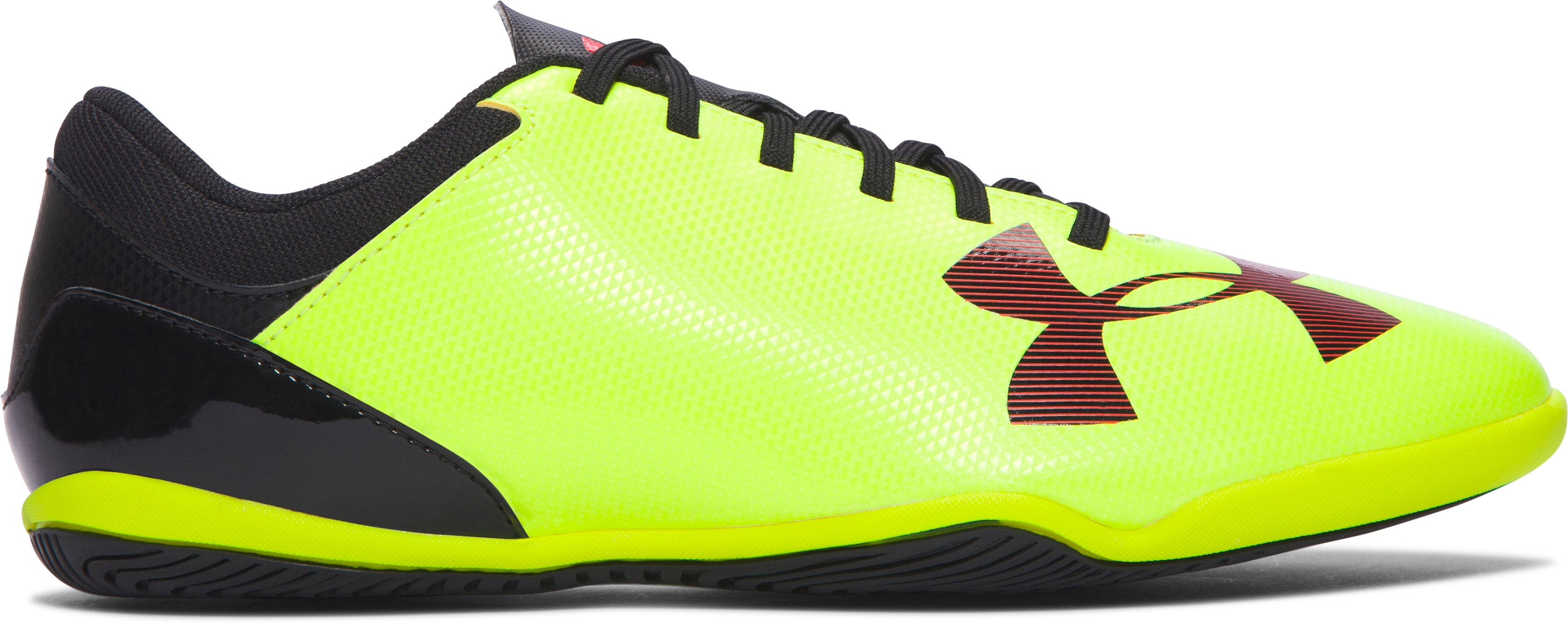 Kids' UA Spotlight ID Jr. Soccer Shoes, High-Vis Yellow