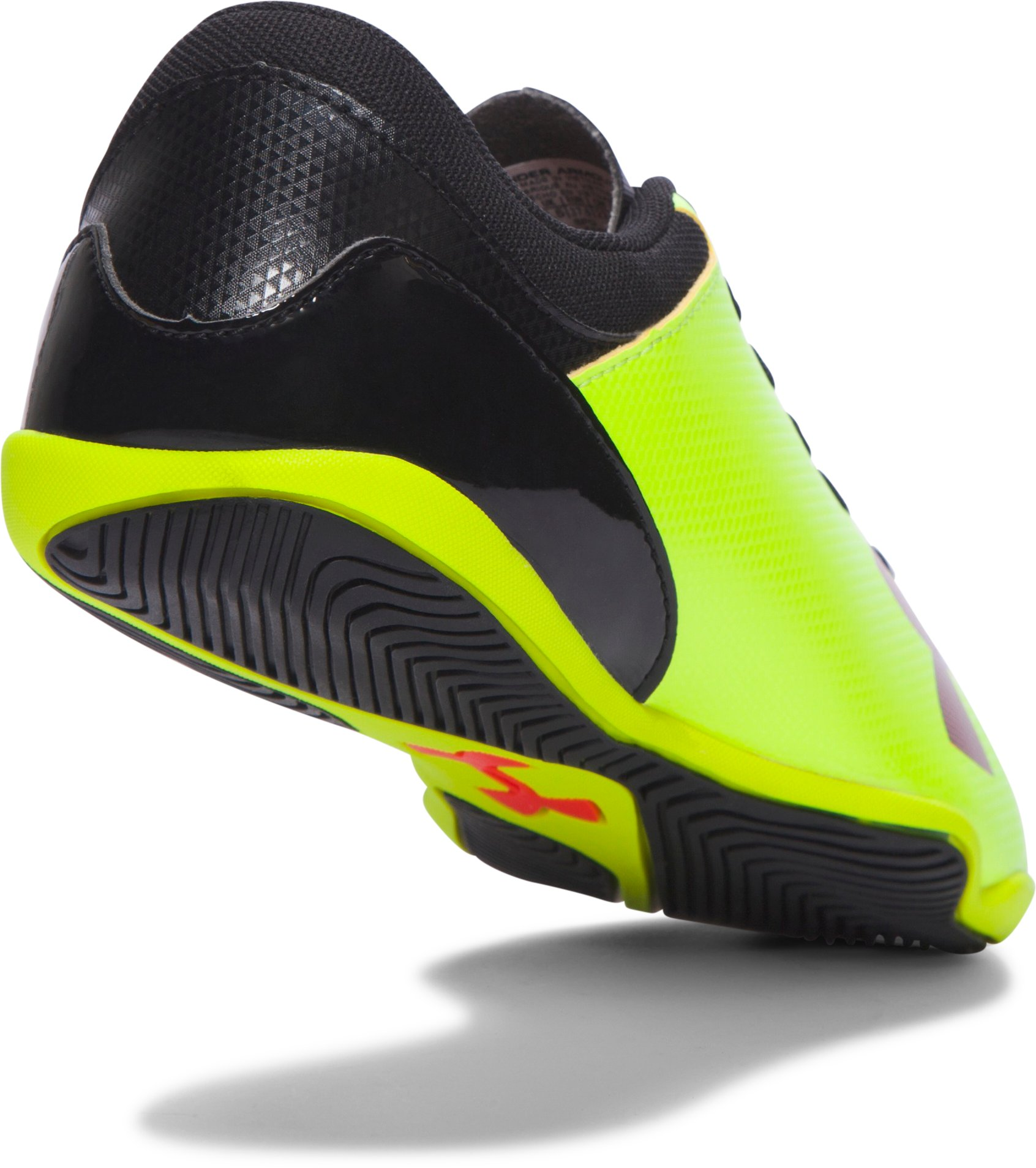 Kids' UA Spotlight ID Jr. Soccer Shoes, High-Vis Yellow,
