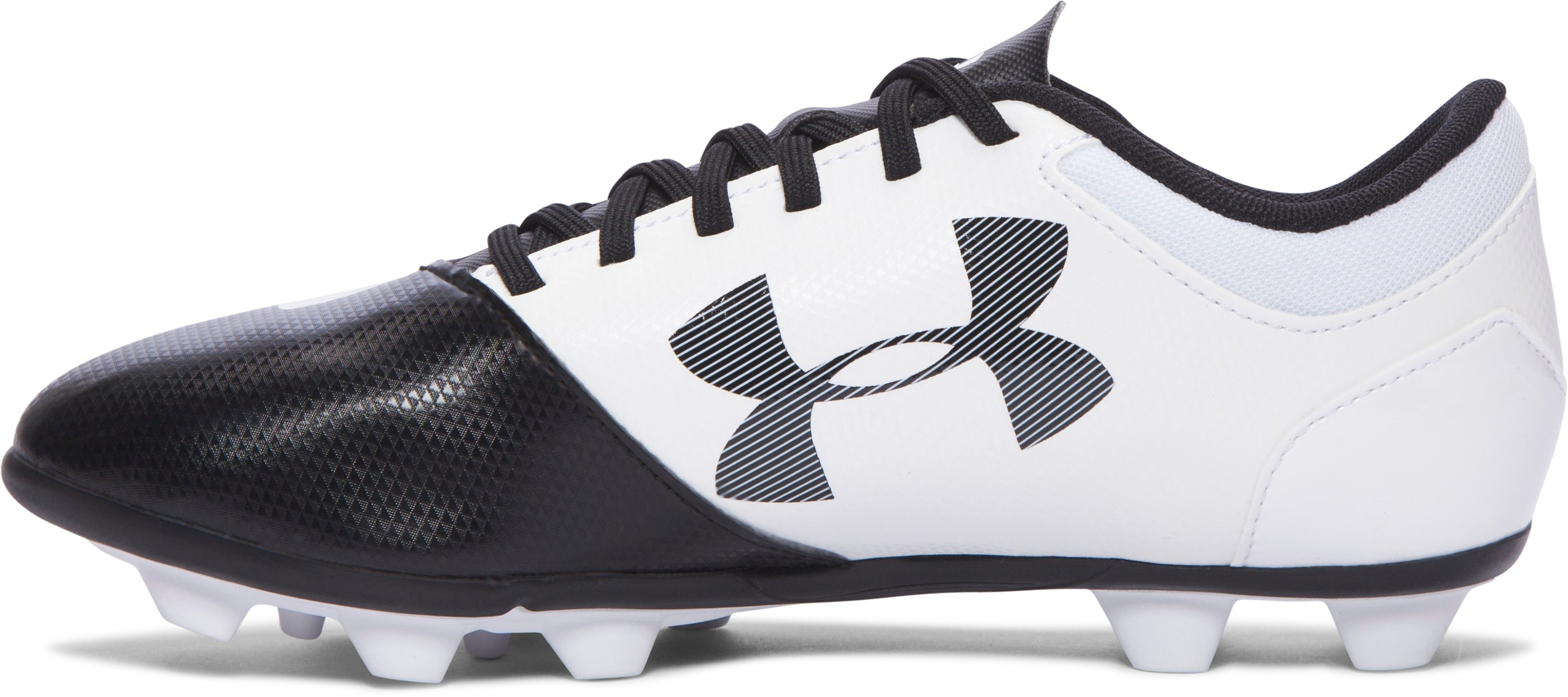 Boys' UA Spotlight DL FG-R Jr. Soccer Cleats, Black