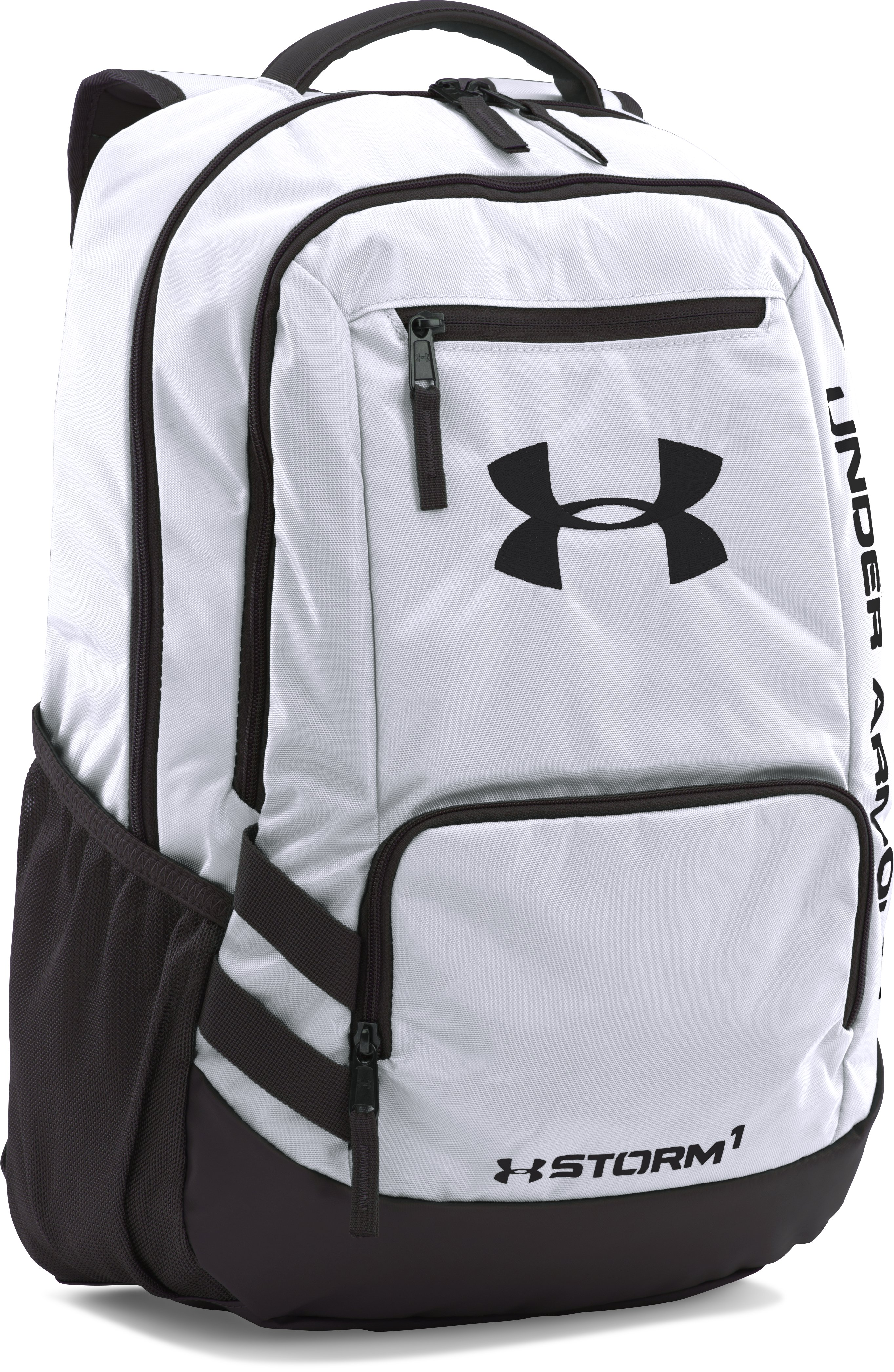 UA Team Hustle Backpack, White,