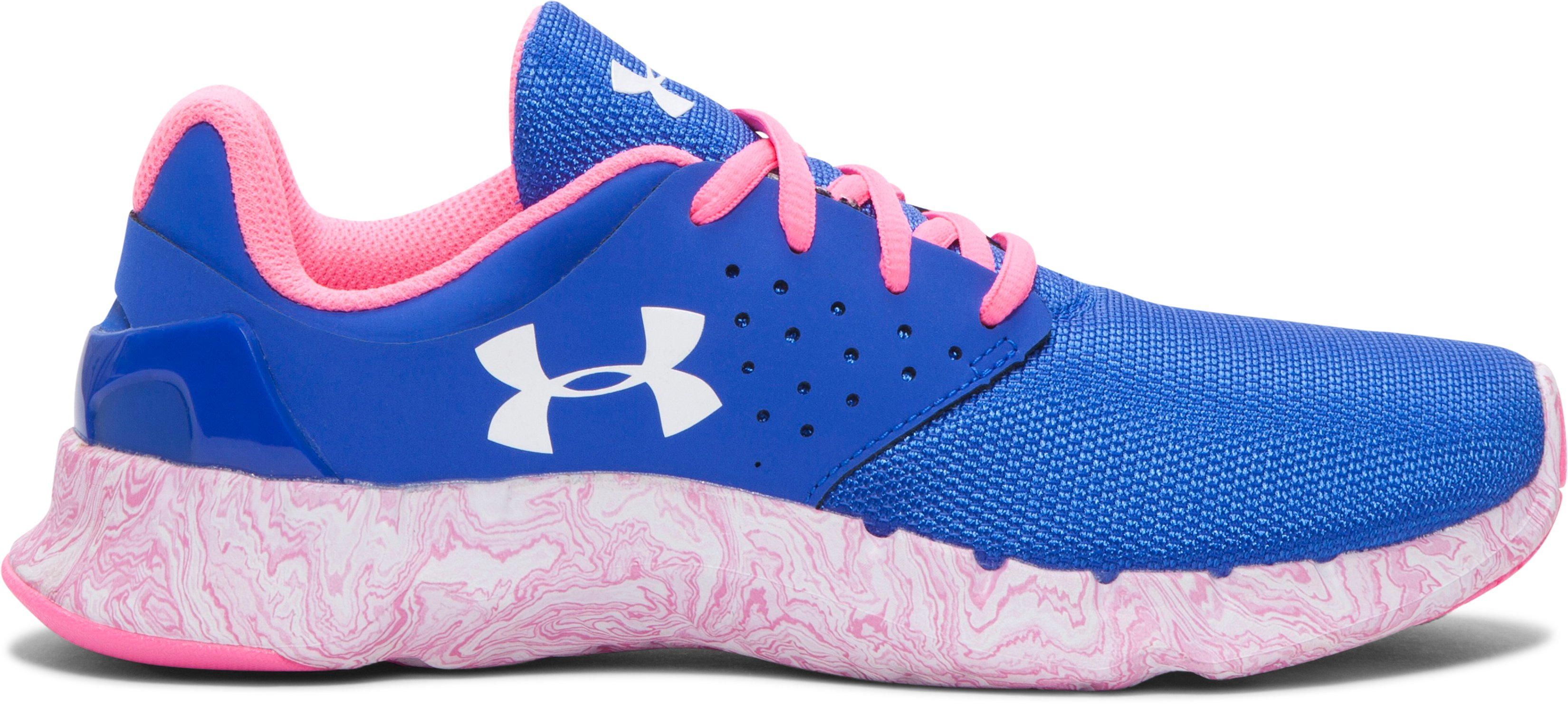 Girls' Grade School UA Flow Swirl Running Shoes, TEAM ROYAL, zoomed image