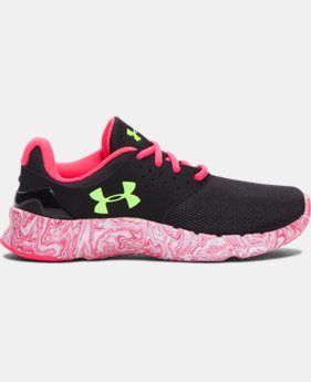 Girls' Pre-School UA Flow Swirl Running Shoes LIMITED TIME: FREE U.S. SHIPPING 1 Color $43.99