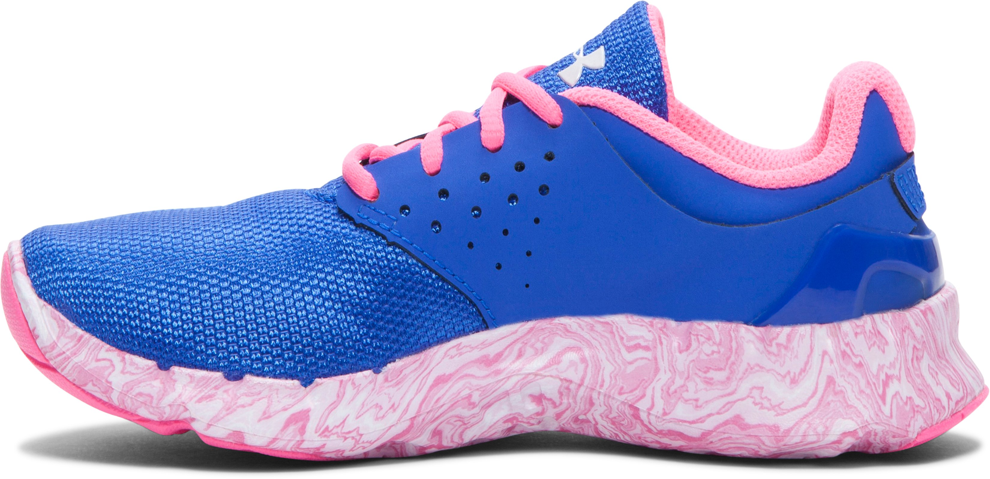 Girls' Pre-School UA Flow Swirl Running Shoes, TEAM ROYAL