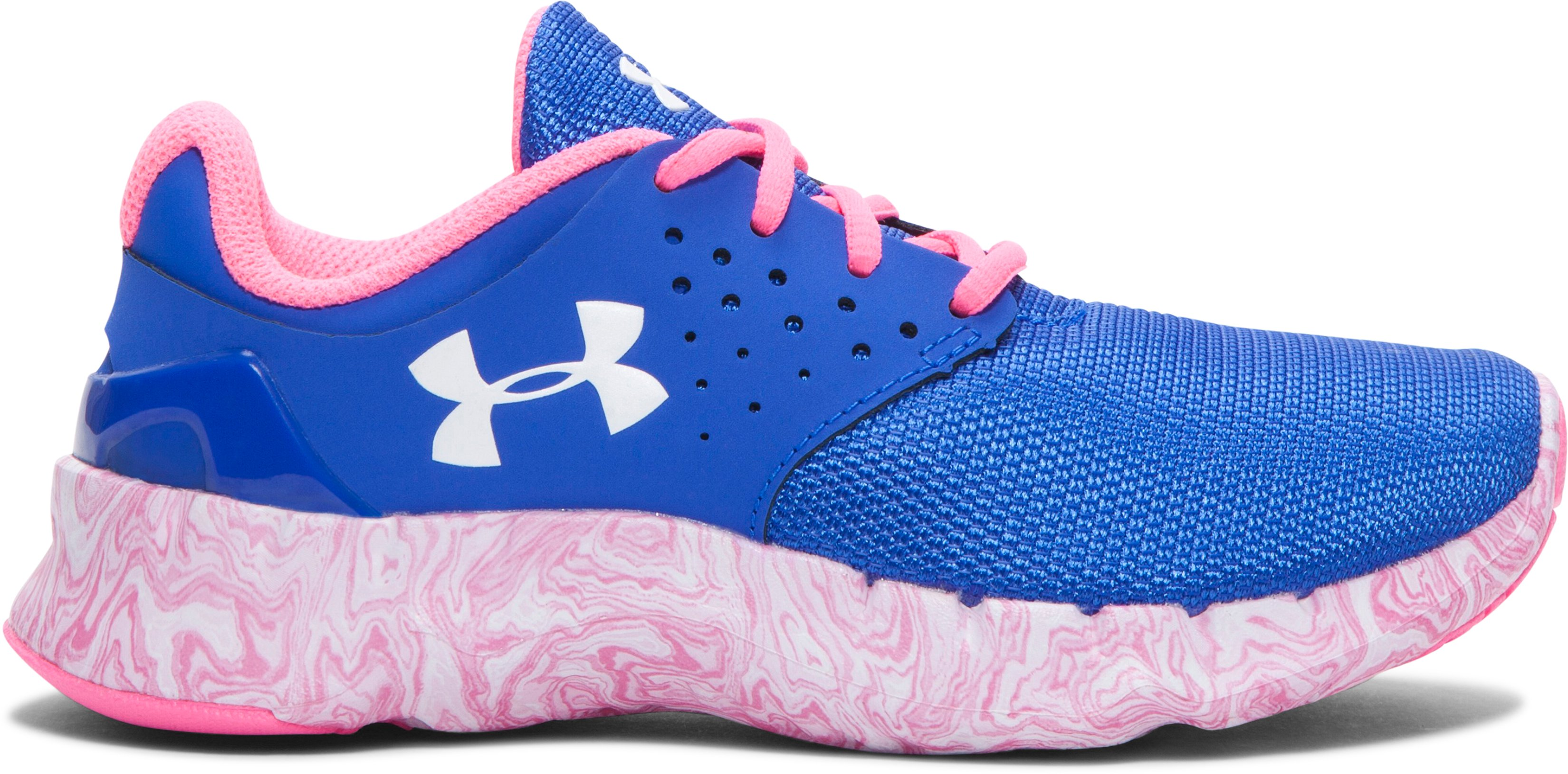 Girls' Pre-School UA Flow Swirl Running Shoes, TEAM ROYAL, zoomed image