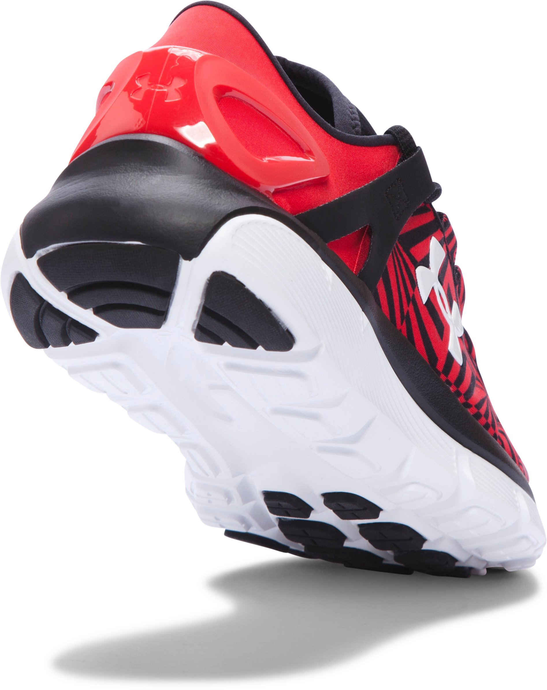 Boys' Grade School UA SpeedForm® Fortis Burst Running Shoes, Red