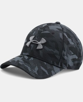 New Arrival  Men's UA Printed Blitzing Stretch Fit Cap LIMITED TIME: FREE SHIPPING 1 Color $29.99
