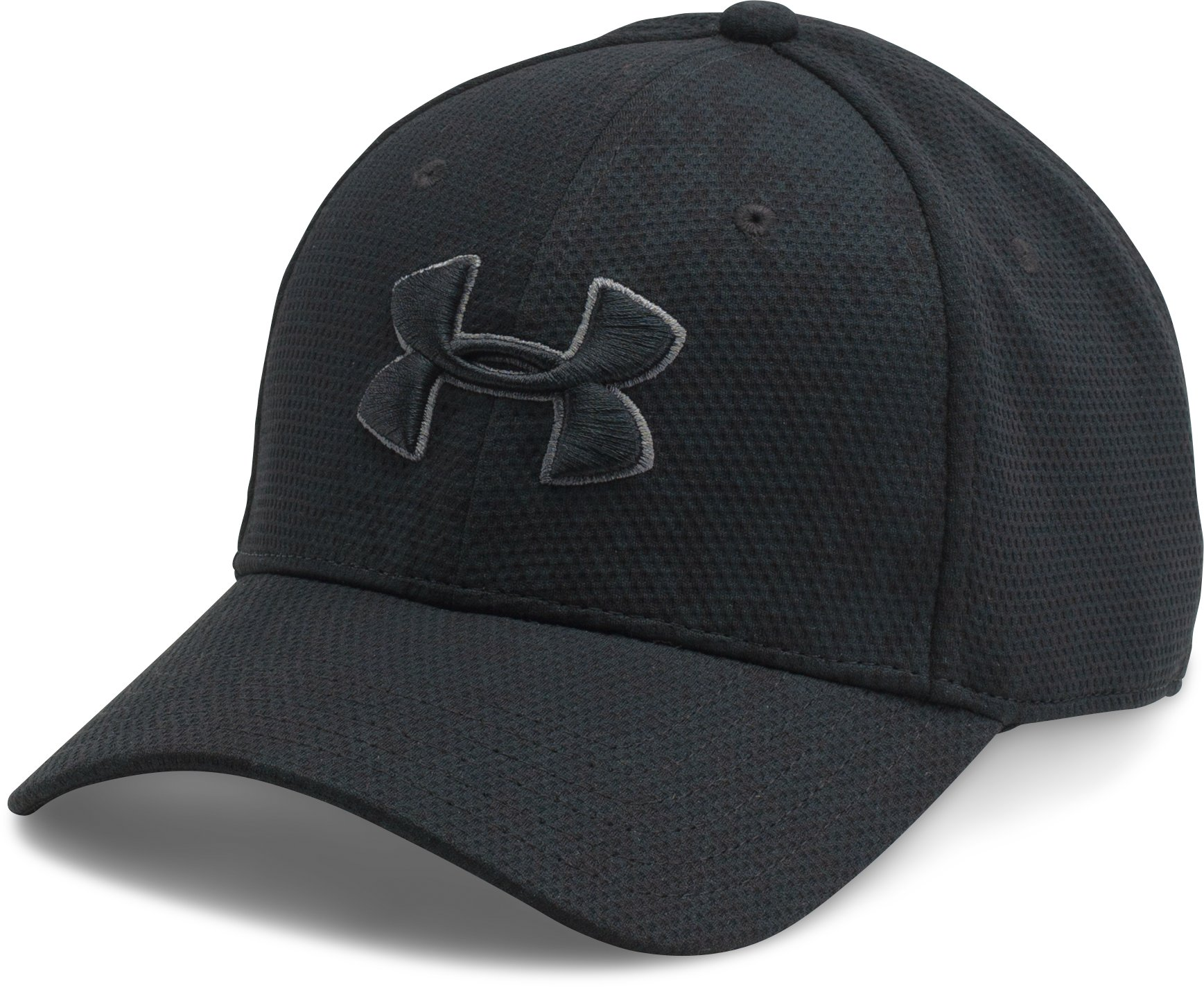 Men's UA Printed Blitzing Stretch Fit Cap, Black , undefined