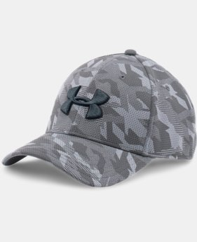 New Arrival  Men's UA Printed Blitzing Stretch Fit Cap LIMITED TIME: FREE SHIPPING 2 Colors $29.99