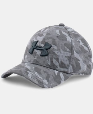 Men's UA Printed Blitzing Stretch Fit Cap LIMITED TIME: FREE SHIPPING 1 Color $22.99