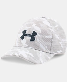 New Arrival  Men's UA Printed Blitzing Stretch Fit Cap LIMITED TIME: FREE SHIPPING 4 Colors $29.99