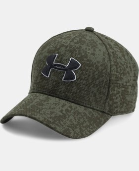 Men's UA Printed Blitzing Stretch Fit Cap  2  Colors Available $24.99