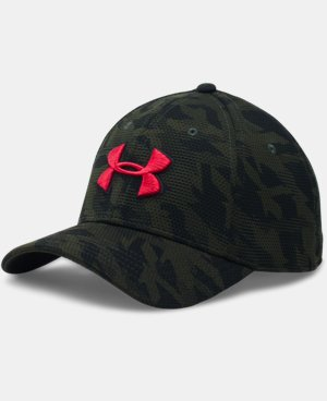 Men's UA Printed Blitzing Stretch Fit Cap LIMITED TIME: FREE U.S. SHIPPING 1 Color $24.99