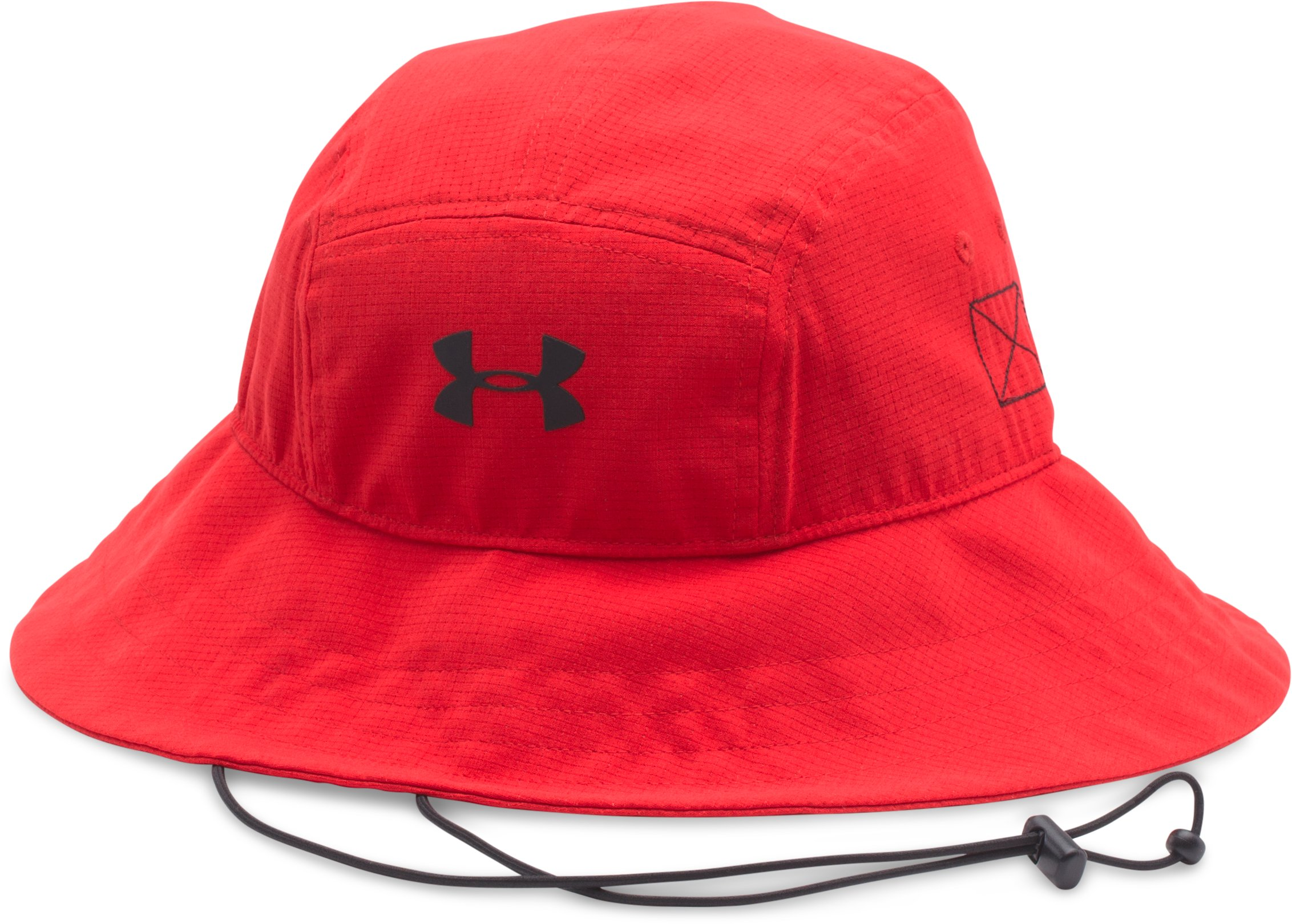 Men's UA ArmourVent™ Bucket Hat, Red, zoomed image