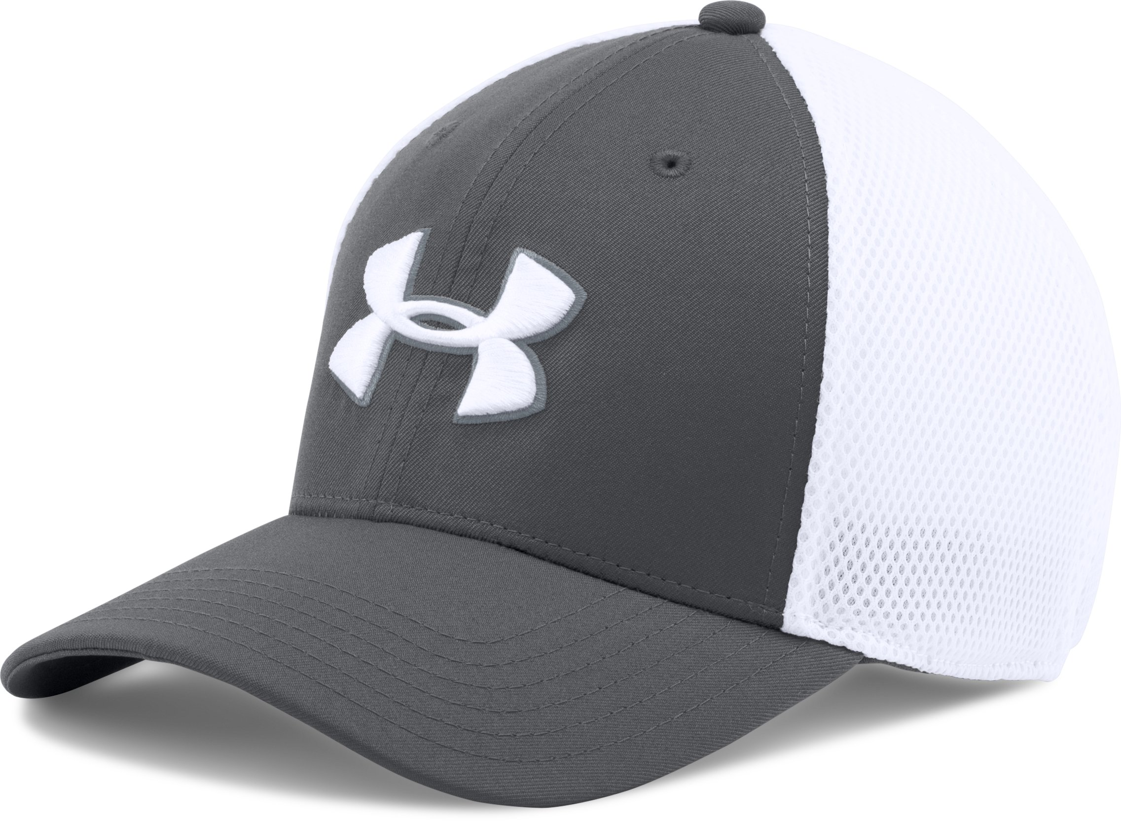 Men's UA Golf Mesh Stretch 2.0 Cap, Graphite, undefined