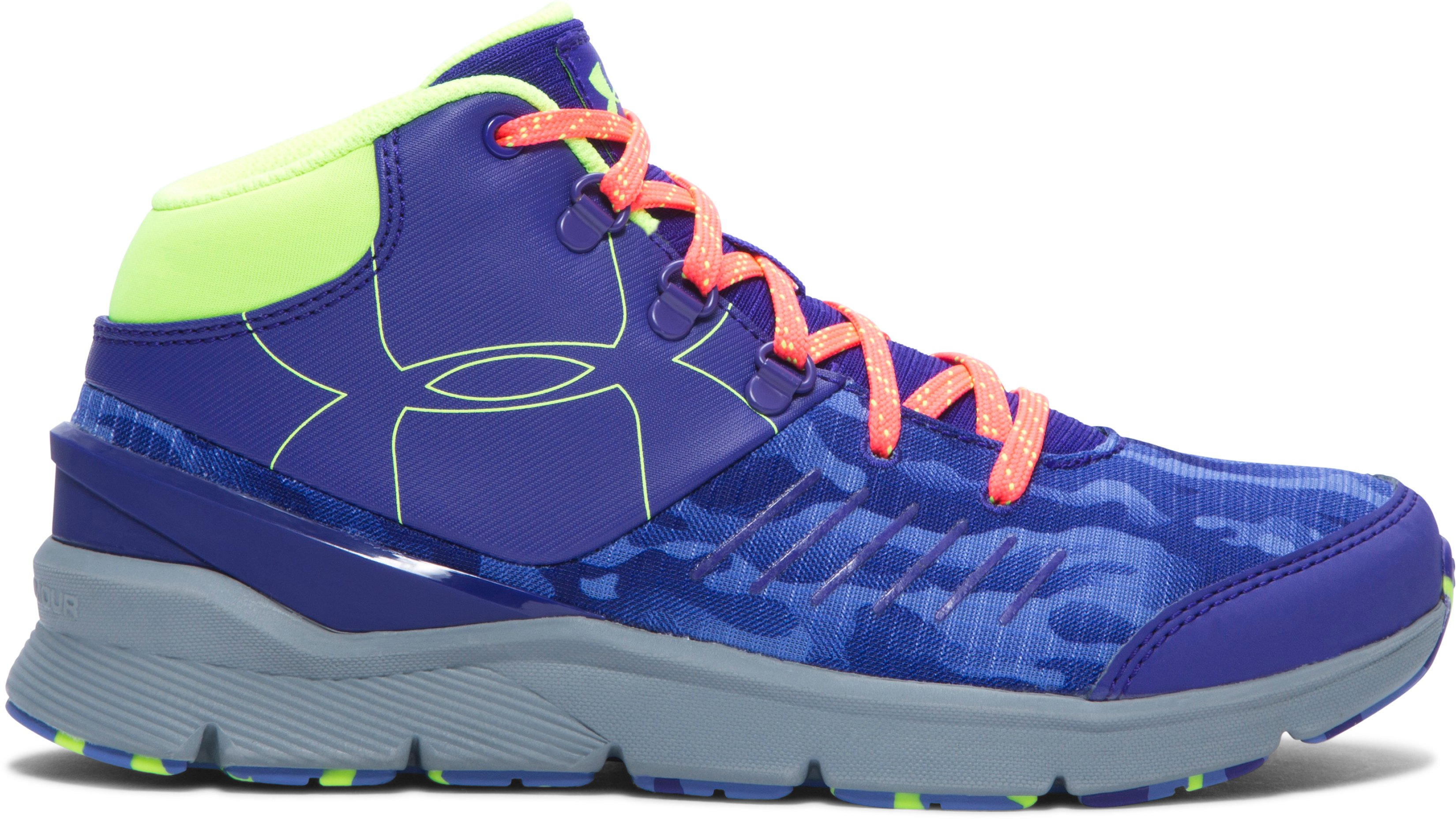 Girls' UA Overdrive Mid Grit Shoes, PURPLE SKY