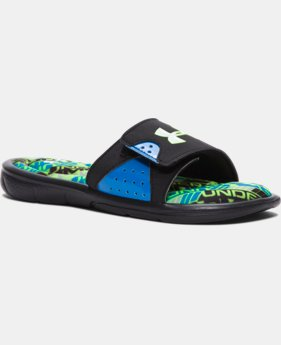 Boys' UA Ignite Velocity Slides LIMITED TIME: FREE SHIPPING 1 Color $34.99