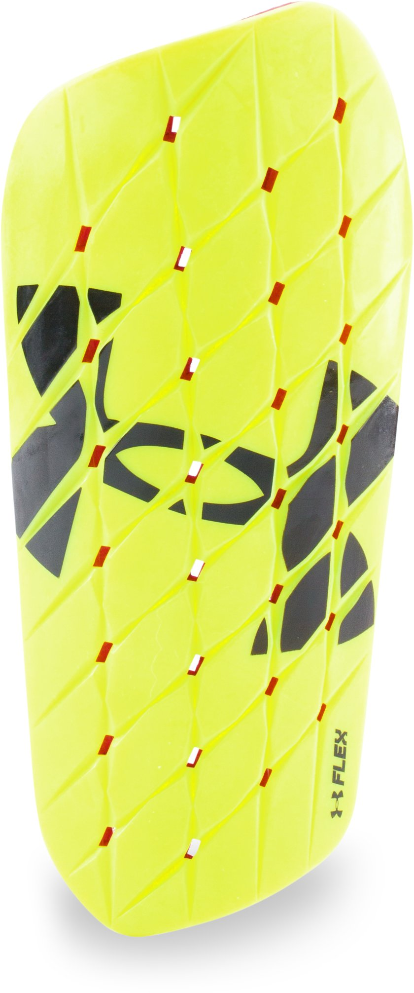 Men's UA Armour Flex Shinguard, High-Vis Yellow, zoomed image