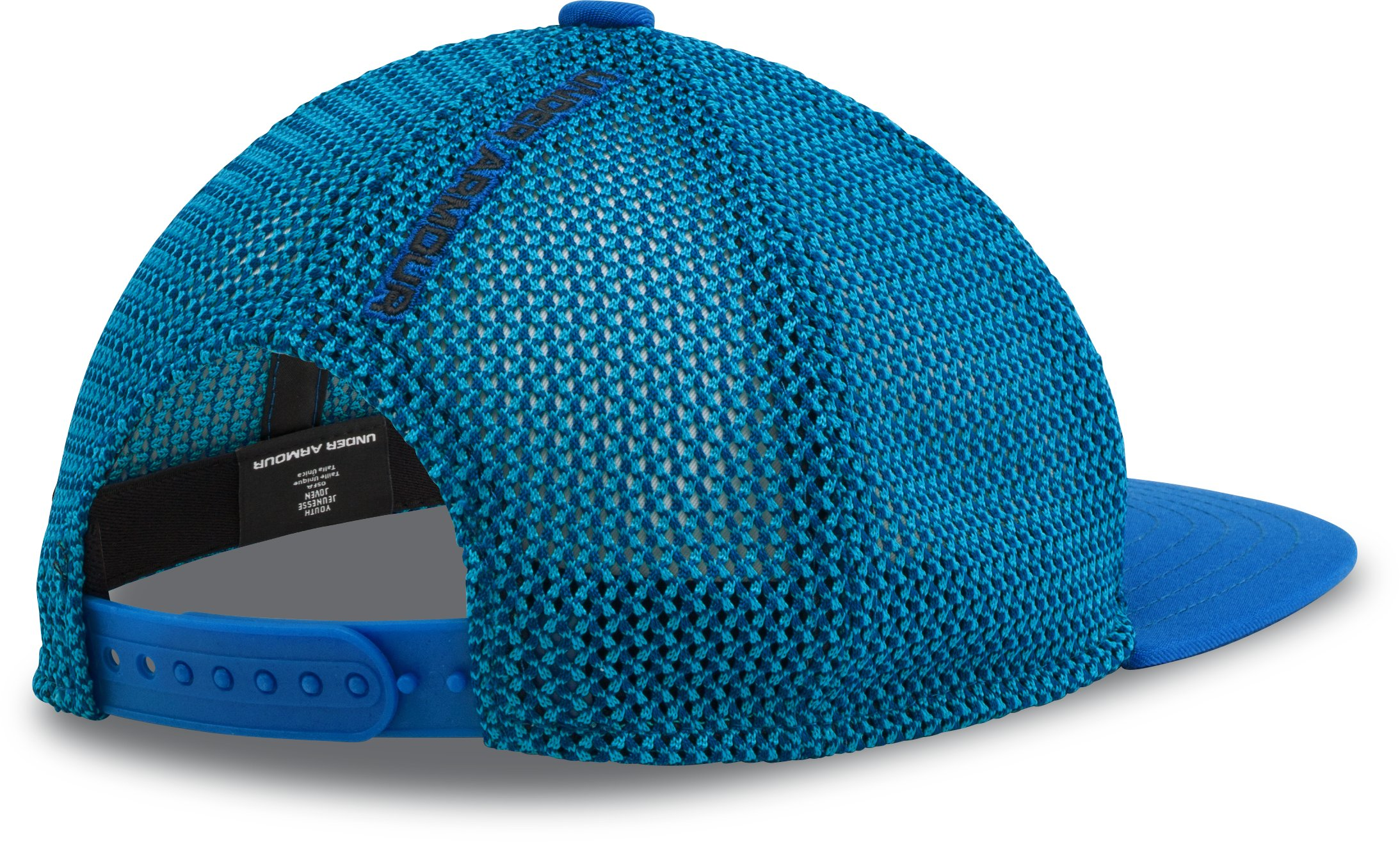 Boys' UA Knit Mesh Snap Back Cap, ULTRA BLUE, undefined