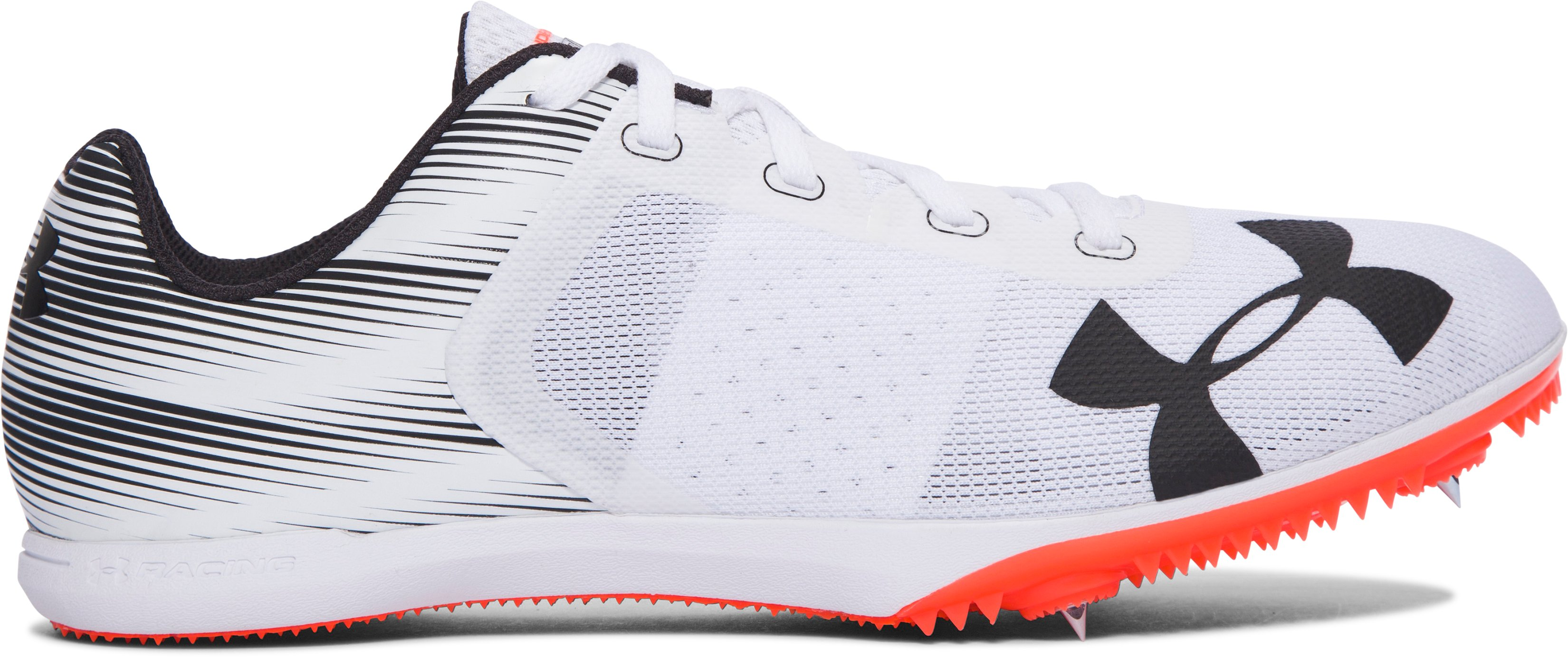 Men's UA Kick Distance Track Spikes, White,