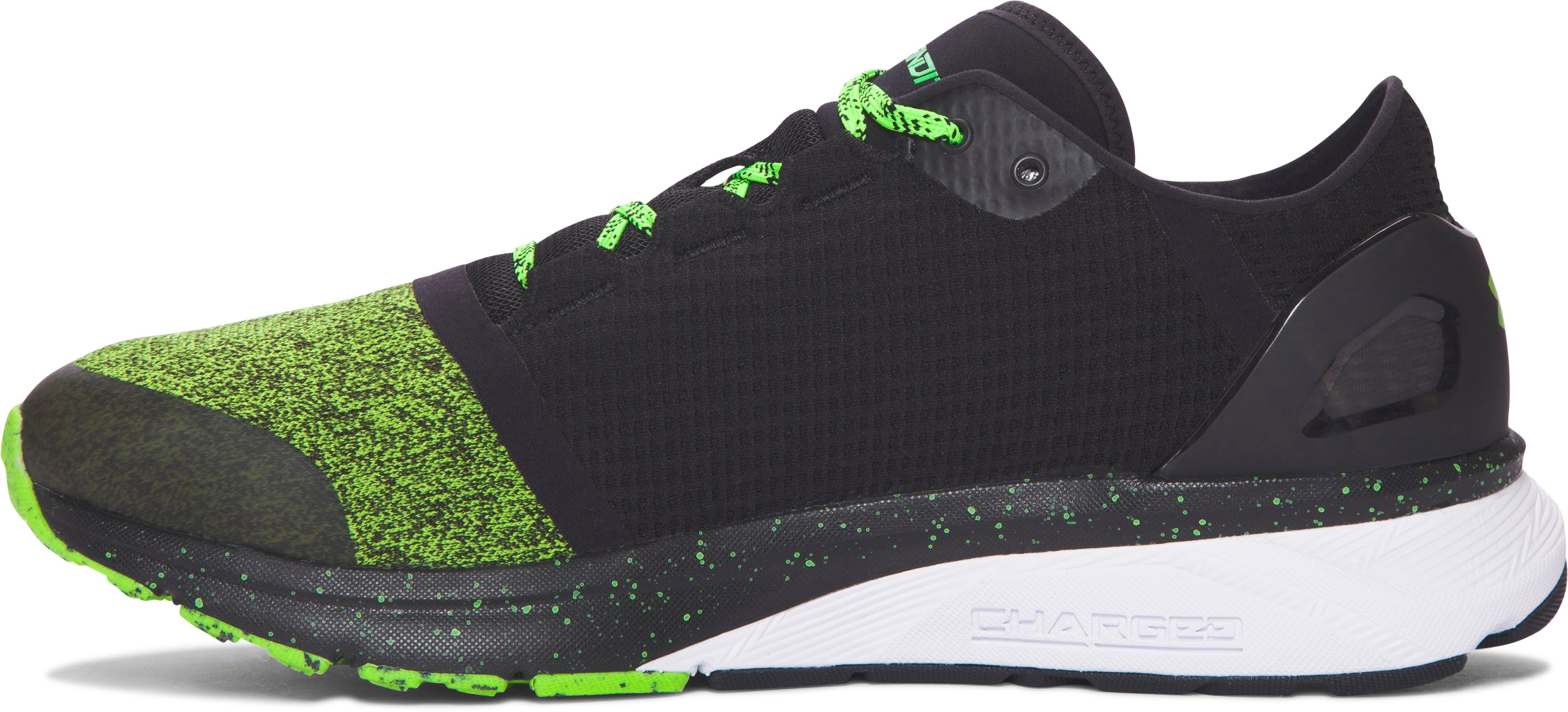 Men's UA Charged Bandit 2 Running Shoes, HYPER GREEN