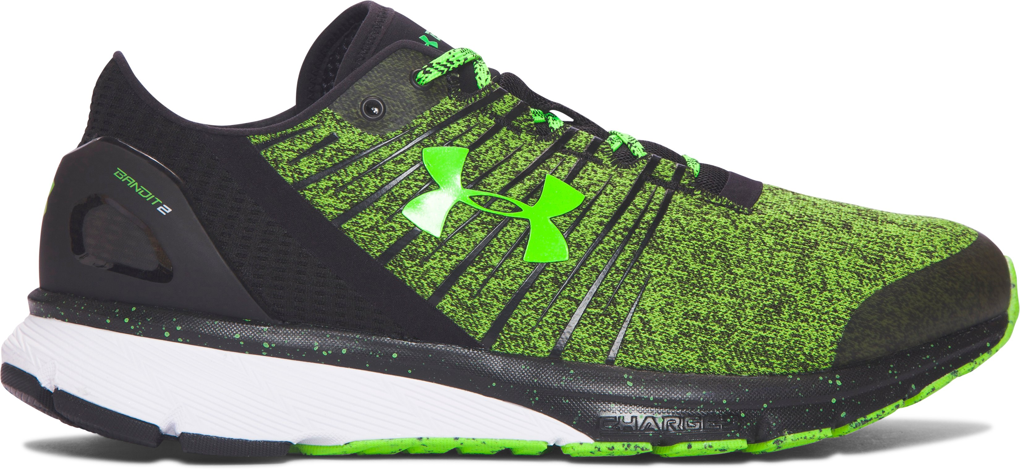 Men's UA Charged Bandit 2 Running Shoes, HYPER GREEN, zoomed image
