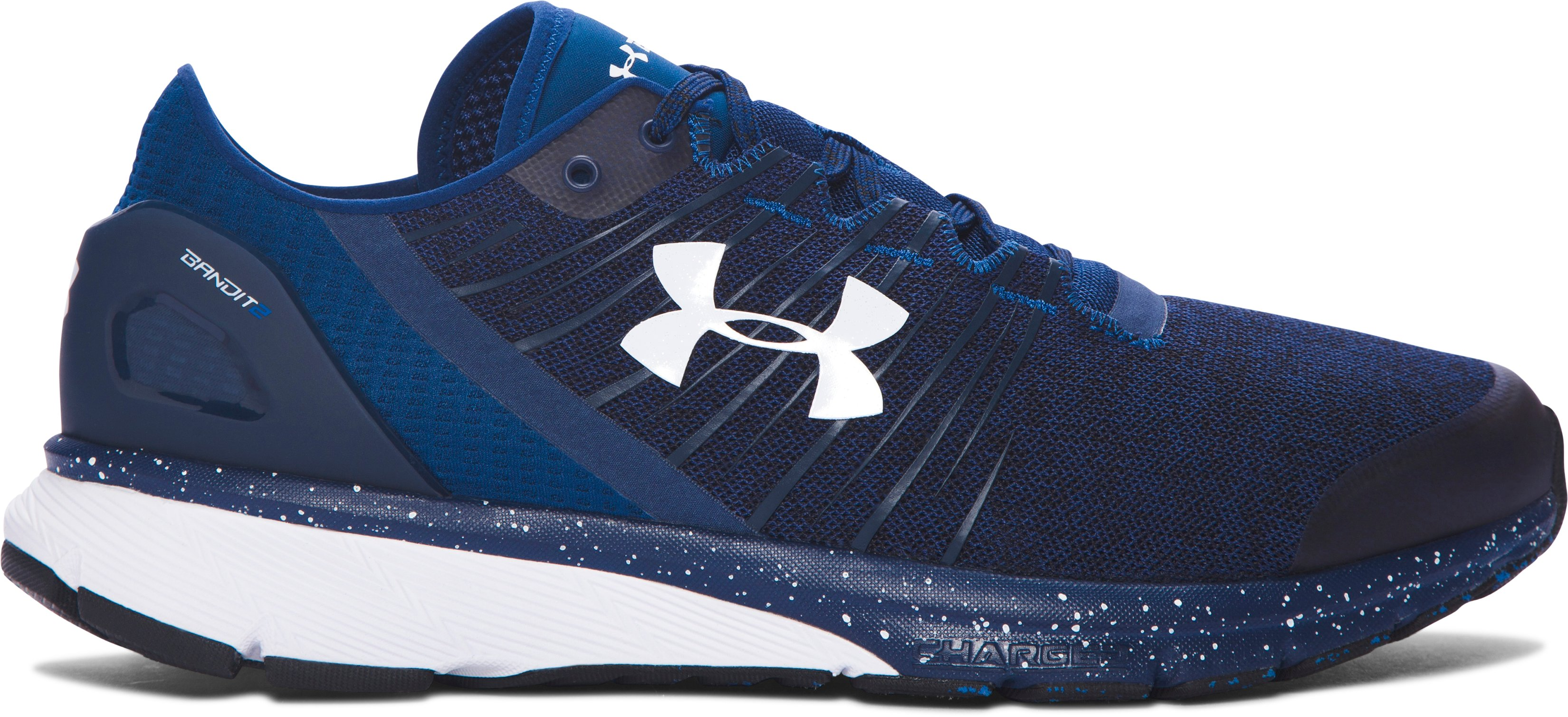Men's UA Charged Bandit 2 Running Shoes, BLACKOUT NAVY, zoomed image