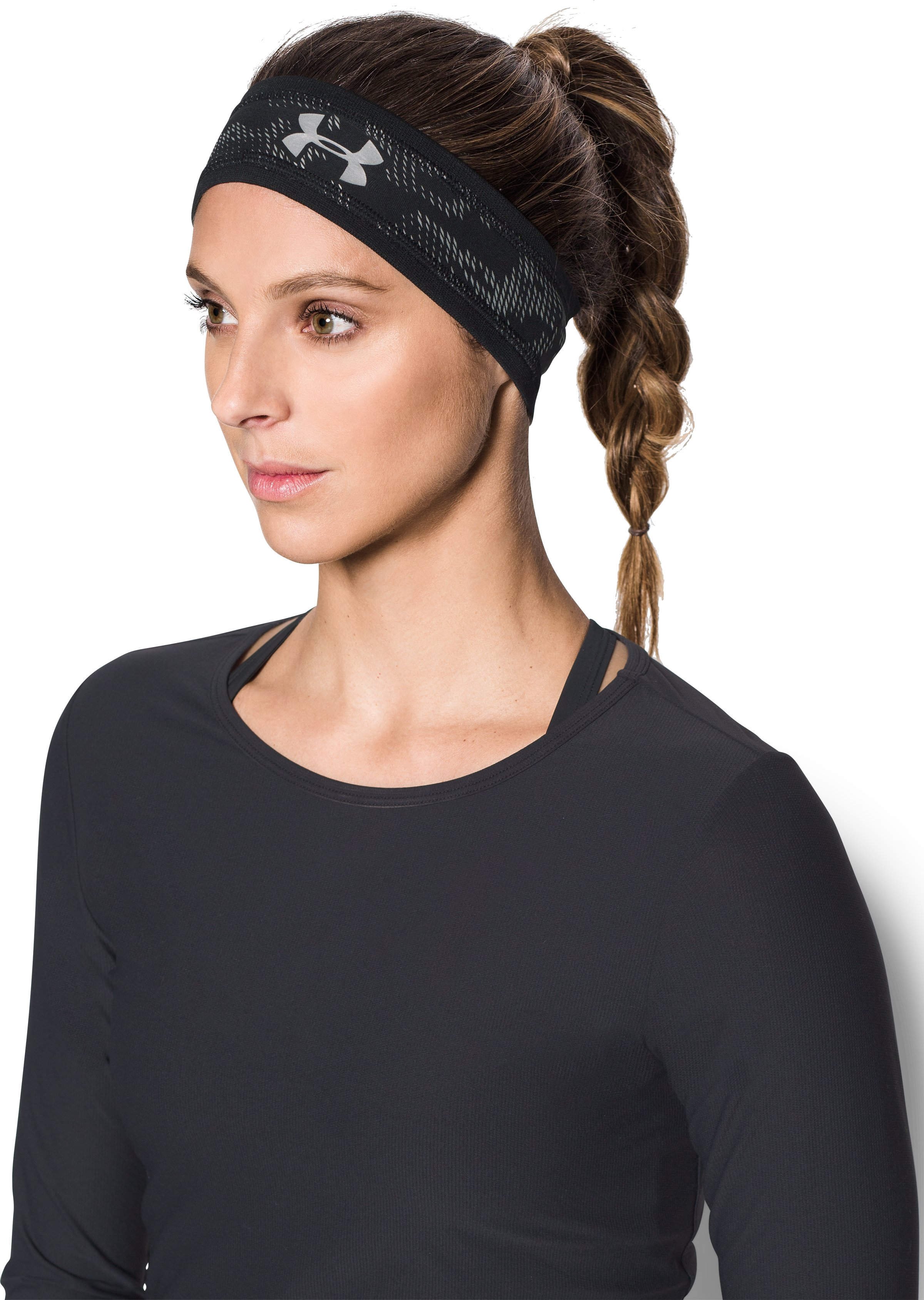 Men's UA Reflective Headband, Black