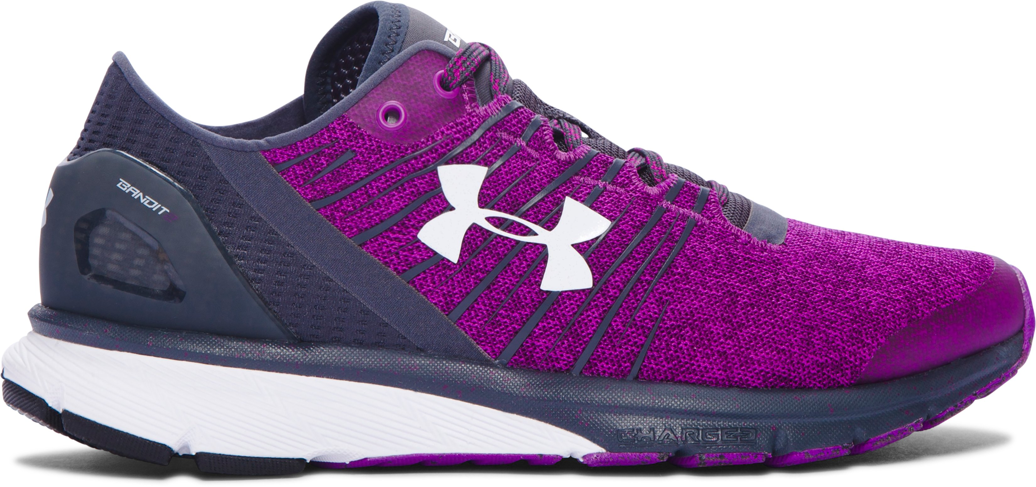 Women's UA Charged Bandit 2 Running Shoes, PURPLE LIGHTS