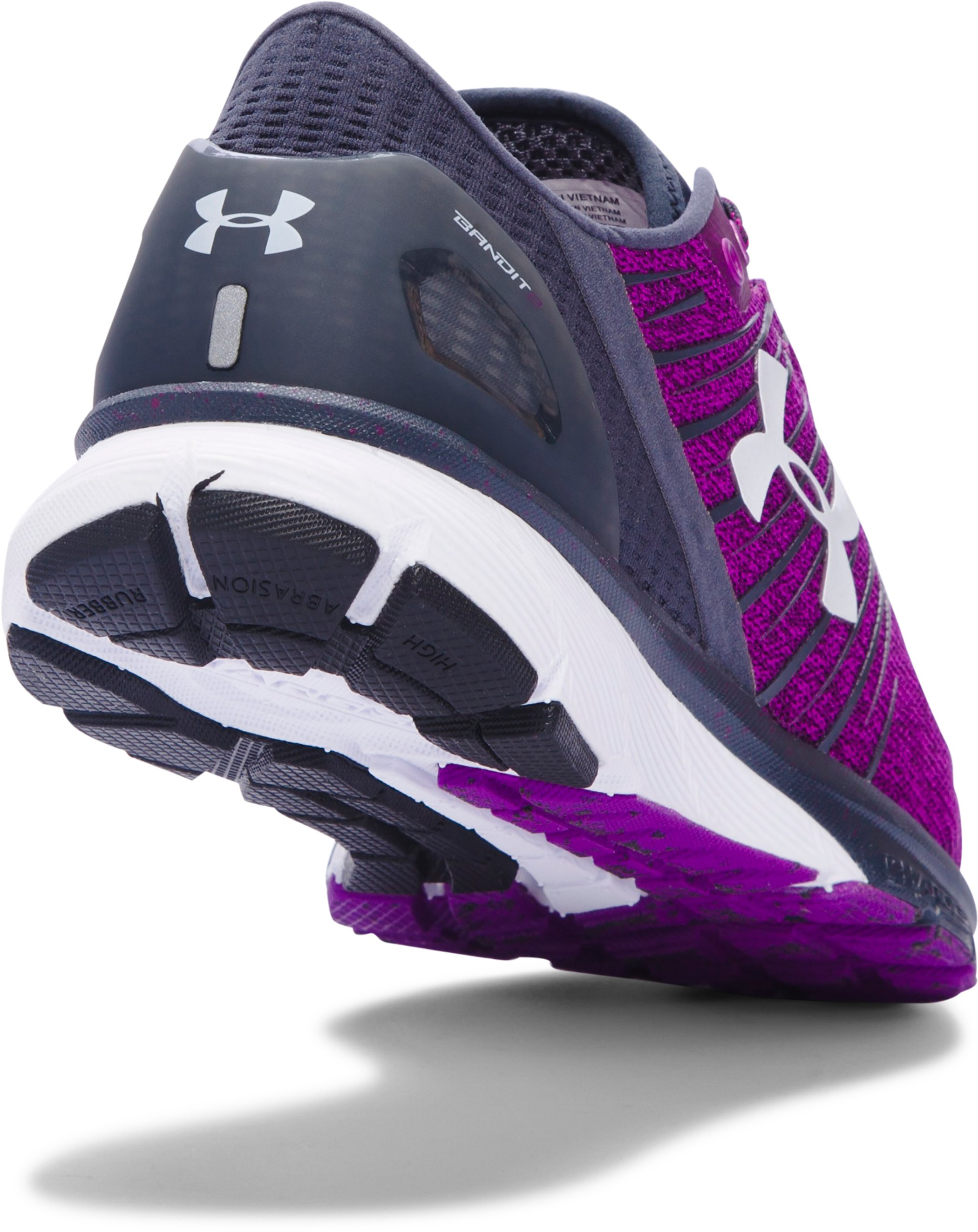 Women's UA Charged Bandit 2 Running Shoes, PURPLE LIGHTS,