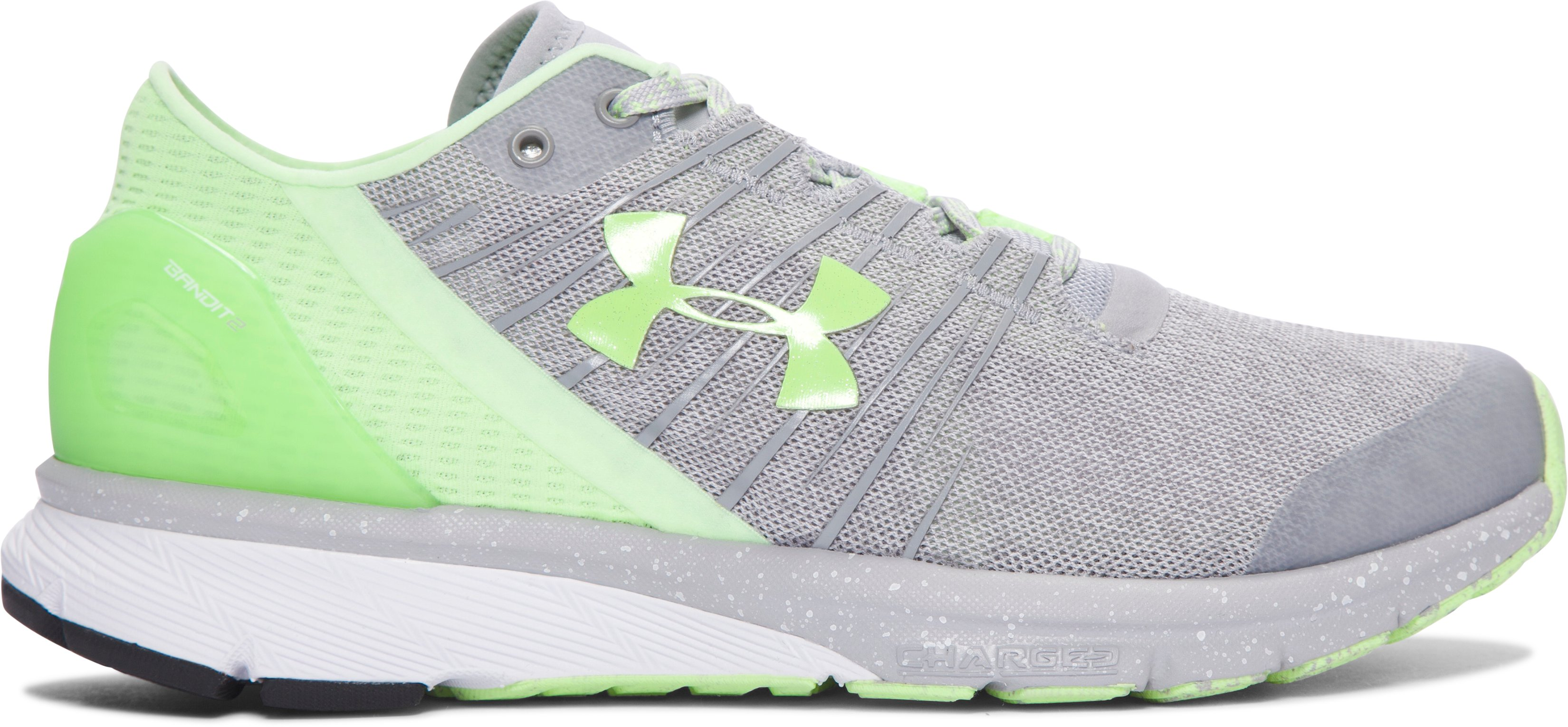 Women's UA Charged Bandit 2 Running Shoes, OVERCAST GRAY