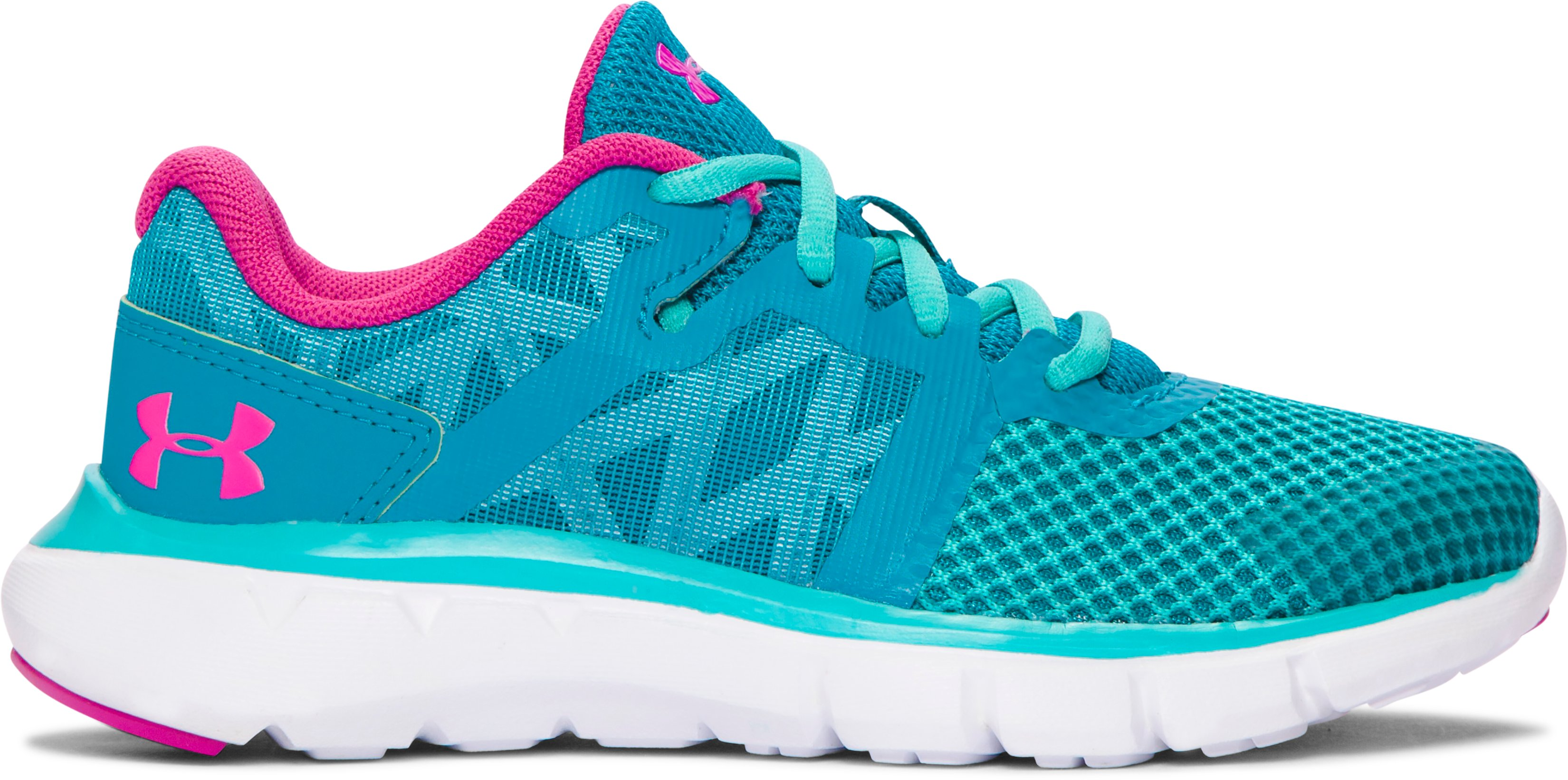 Girls' Pre-School UA Shift Running Shoes, SUBTROPICAL TEAL, zoomed image