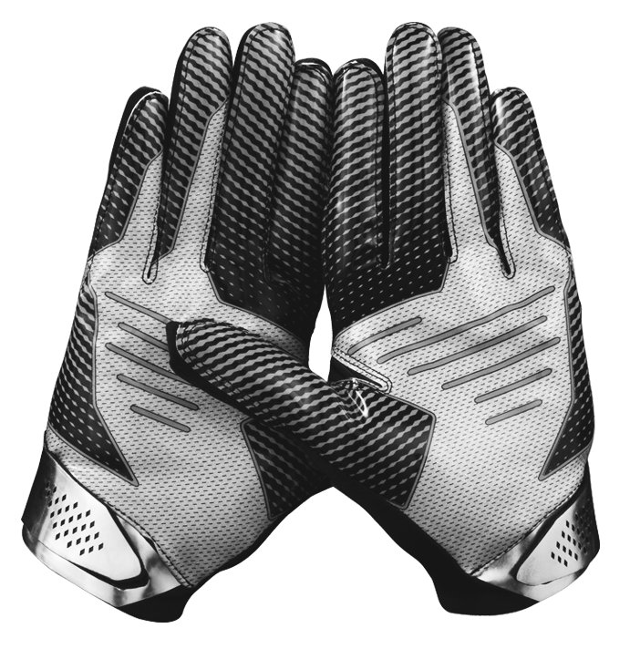 Men's UA Spotlight Football Gloves, Black