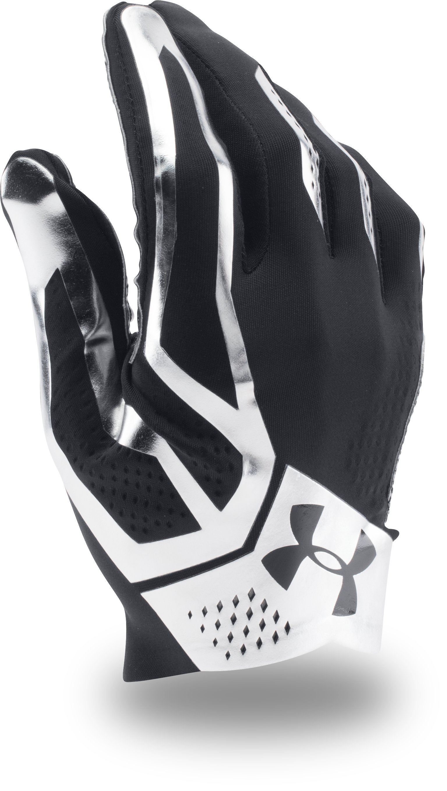 Men's UA Spotlight Football Gloves, Black ,